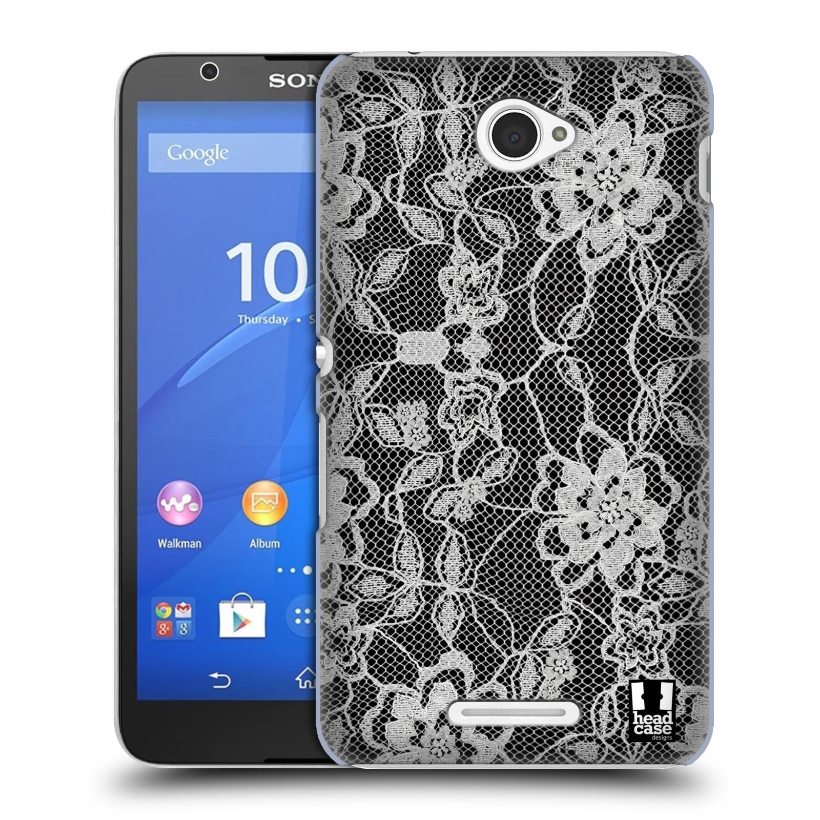 Plastové pouzdro na mobil Sony Xperia E4 E2105 HEAD CASE FLOWERY KRAJKA (Kryt či obal na mobilní telefon Sony Xperia E4 a E4 Dual SIM)