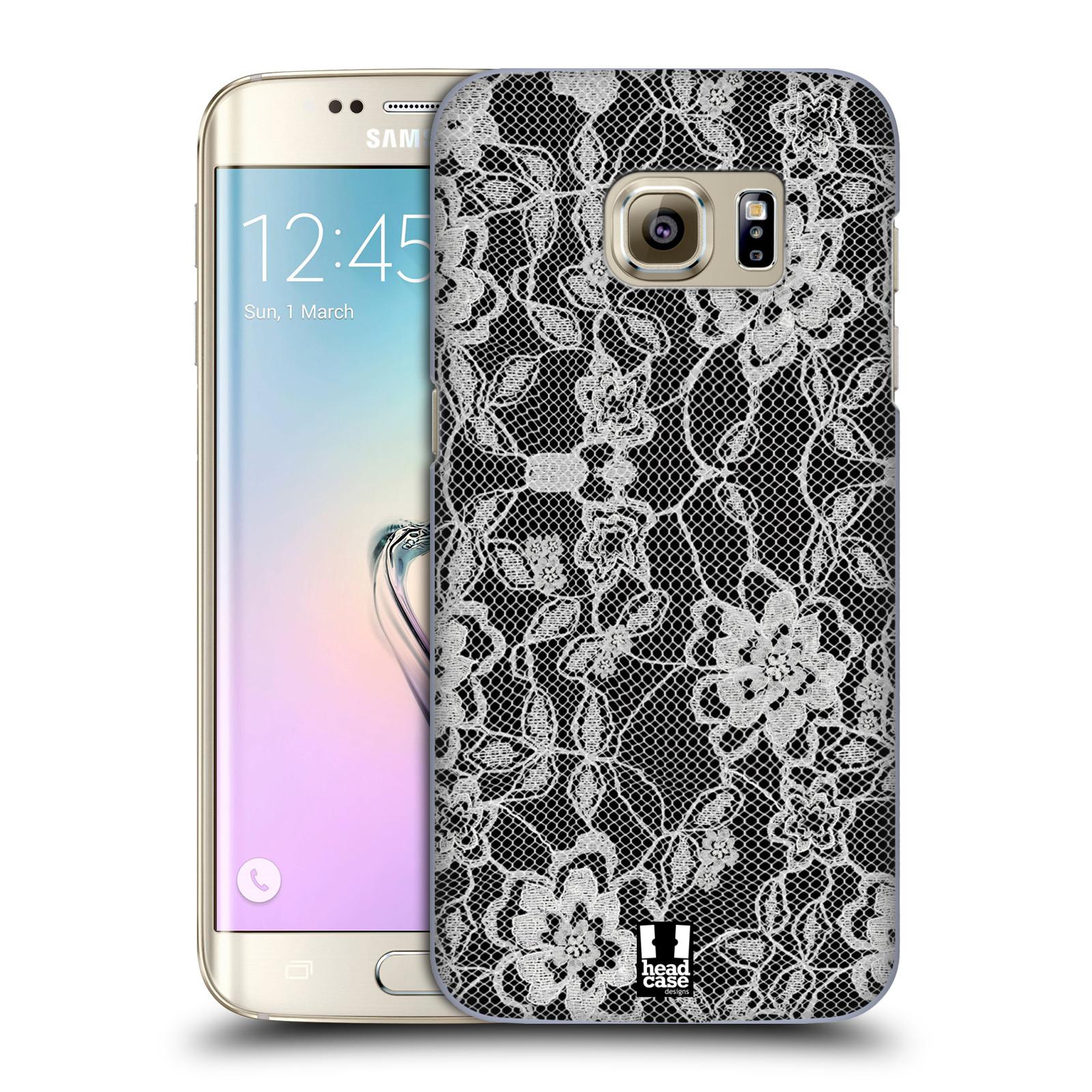 Plastové pouzdro na mobil Samsung Galaxy S7 Edge HEAD CASE FLOWERY KRAJKA