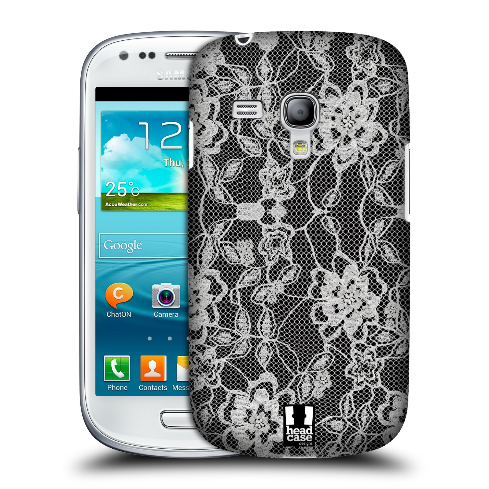 Plastové pouzdro na mobil Samsung Galaxy S III Mini HEAD CASE FLOWERY KRAJKA (Kryt či obal na mobilní telefon Samsung Galaxy S III Mini GT-i8190)