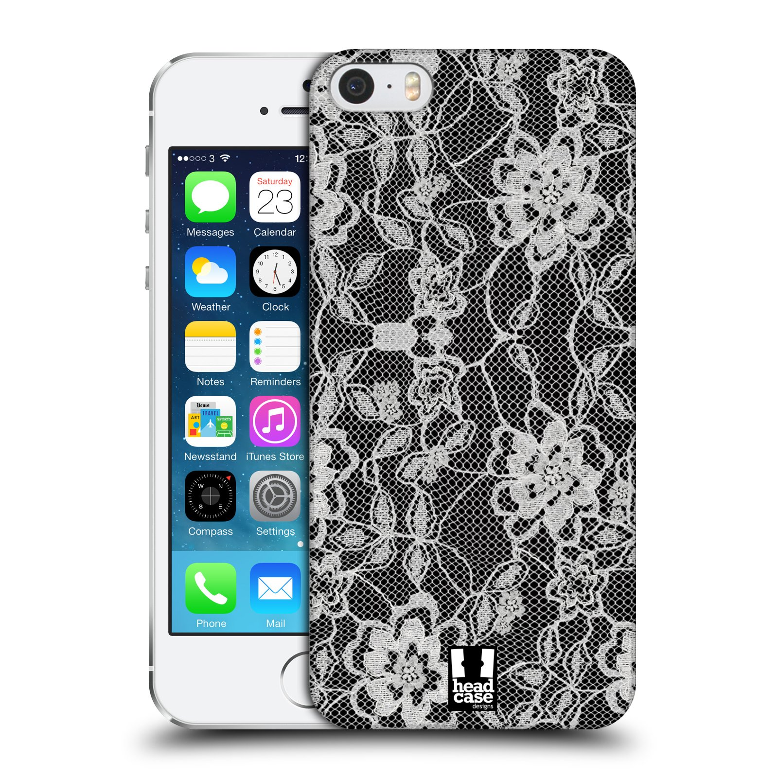 Plastové pouzdro na mobil Apple iPhone SE, 5 a 5S HEAD CASE FLOWERY KRAJKA