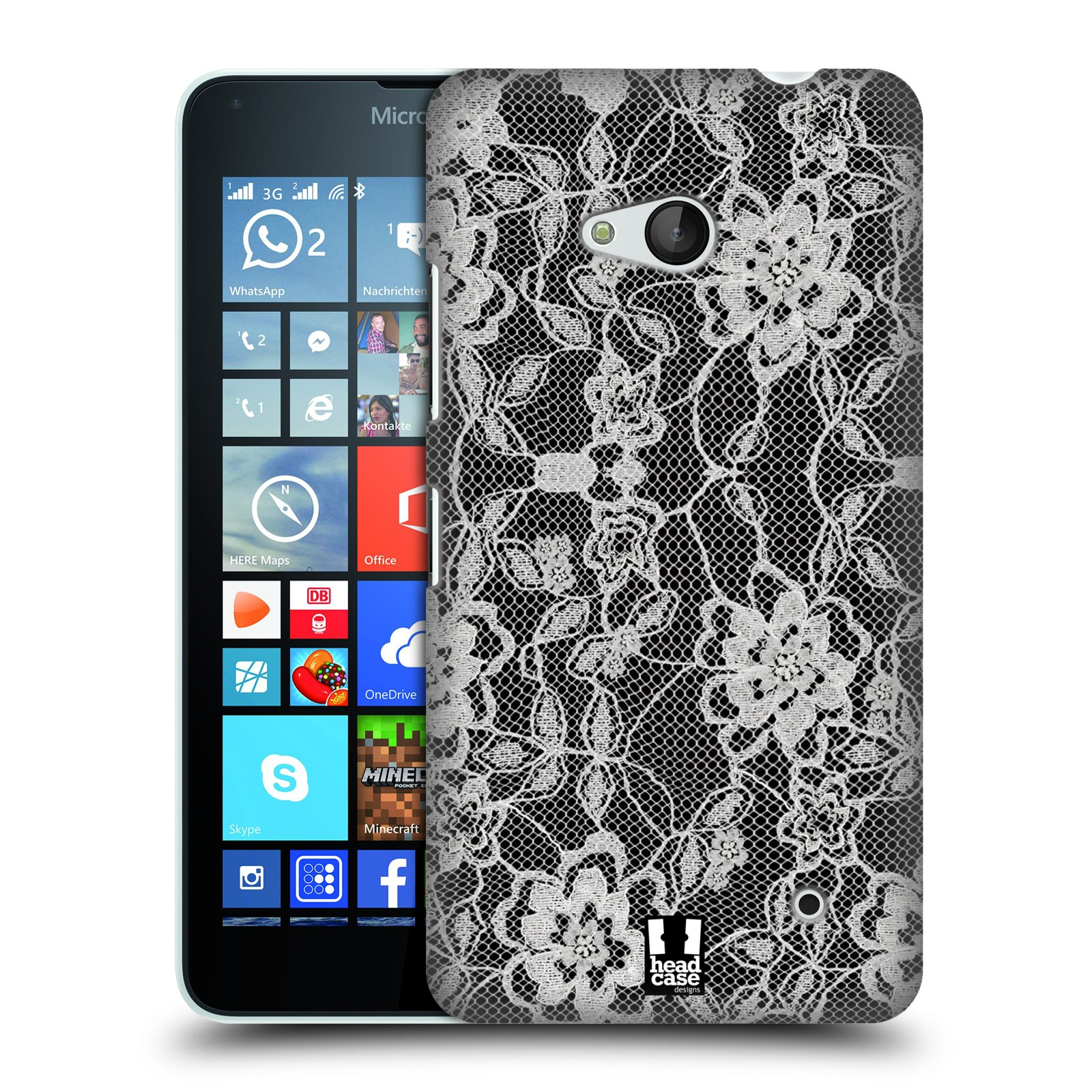 Plastové pouzdro na mobil Microsoft Lumia 640 HEAD CASE FLOWERY KRAJKA