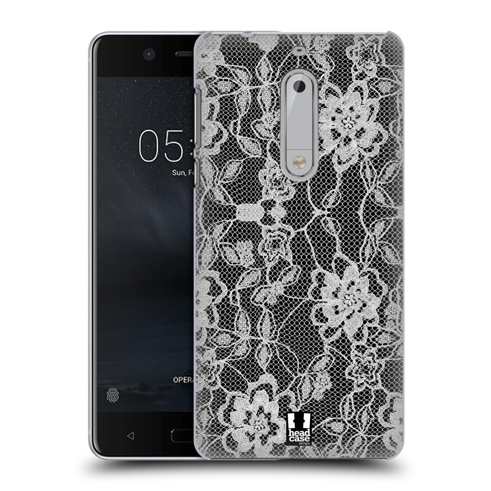 Plastové pouzdro na mobil Nokia 5 Head Case - FLOWERY KRAJKA