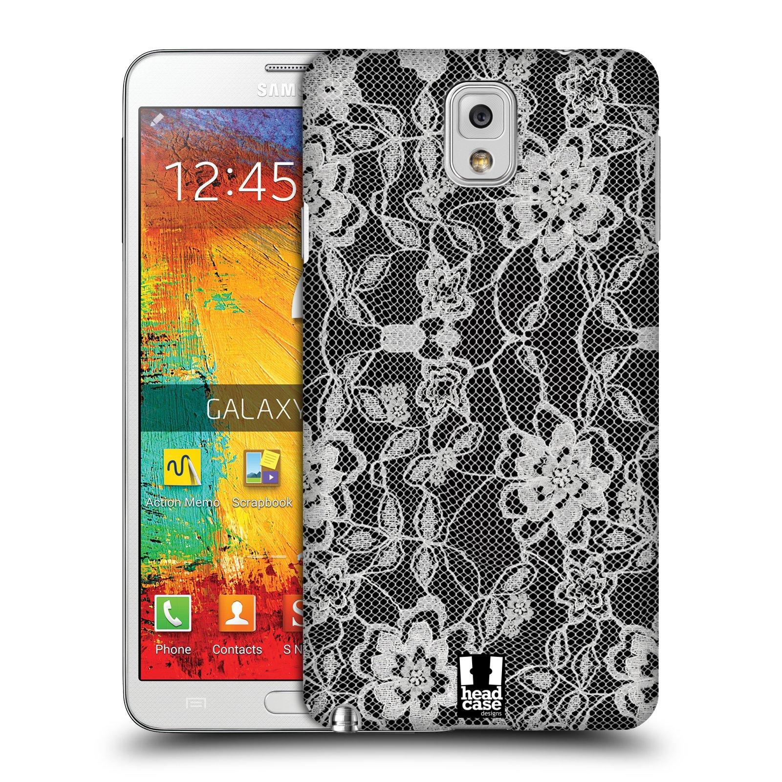 Plastové pouzdro na mobil Samsung Galaxy Note 3 HEAD CASE FLOWERY KRAJKA (Kryt či obal na mobilní telefon Samsung Galaxy Note 3 SM-N9005)