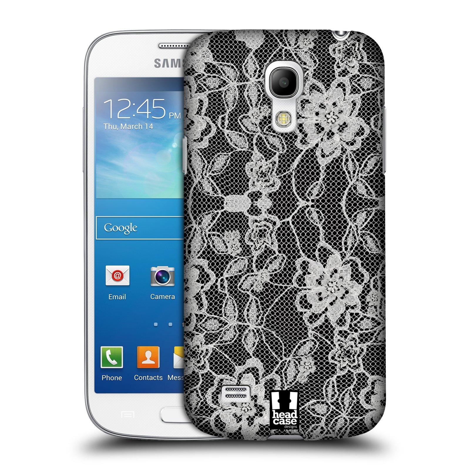 Plastové pouzdro na mobil Samsung Galaxy S4 Mini HEAD CASE FLOWERY KRAJKA (Kryt či obal na mobilní telefon Samsung Galaxy S4 Mini GT-i9195 / i9190)