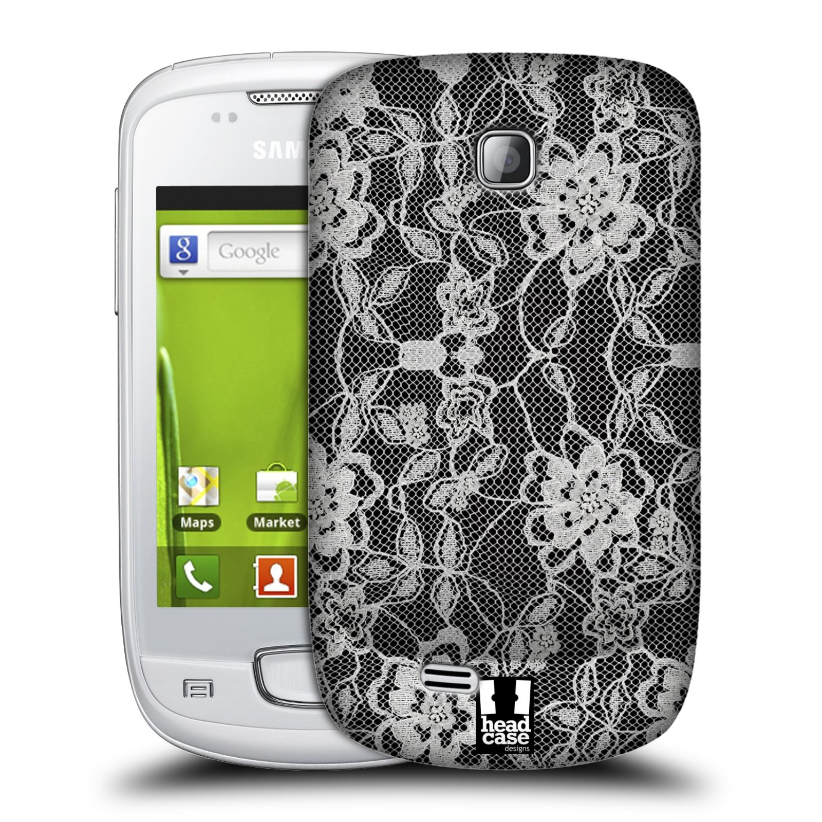 Plastové pouzdro na mobil Samsung Galaxy Mini HEAD CASE FLOWERY KRAJKA (Kryt či obal na mobilní telefon Samsung Galaxy Mini GT-S5570 / GT-S5570i)
