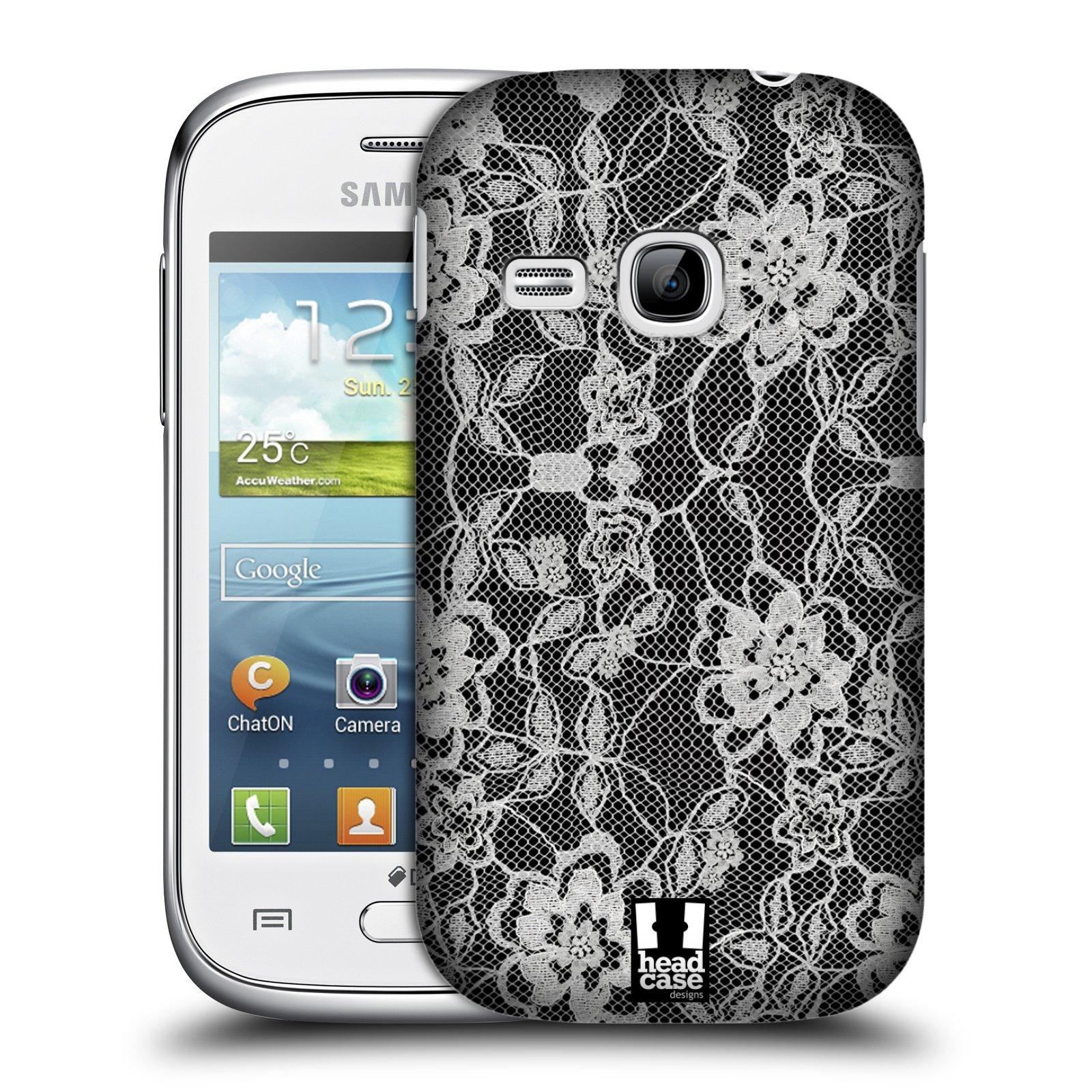 Plastové pouzdro na mobil Samsung Galaxy Young HEAD CASE FLOWERY KRAJKA (Kryt či obal na mobilní telefon Samsung Galaxy Young GT-S6310)