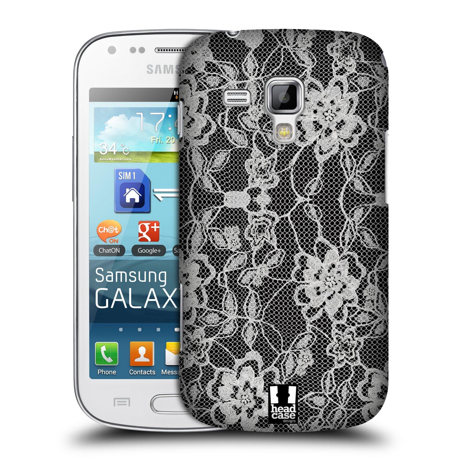 Plastové pouzdro na mobil Samsung Galaxy S Duos HEAD CASE FLOWERY KRAJKA (Kryt či obal na mobilní telefon Samsung Galaxy S Duos GT-S7562)