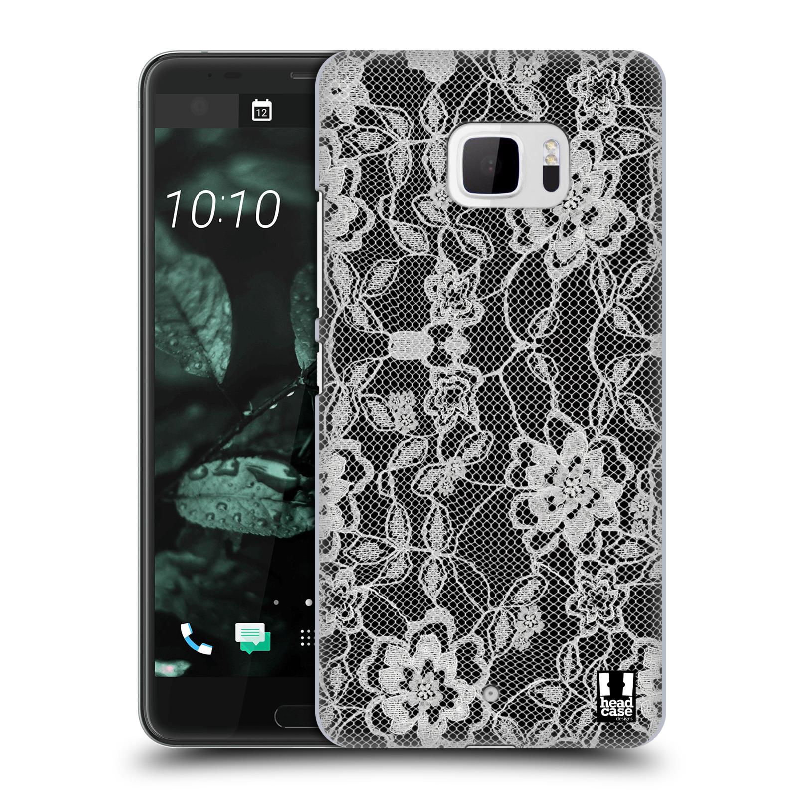 Plastové pouzdro na mobil HTC U Ultra Head Case - FLOWERY KRAJKA