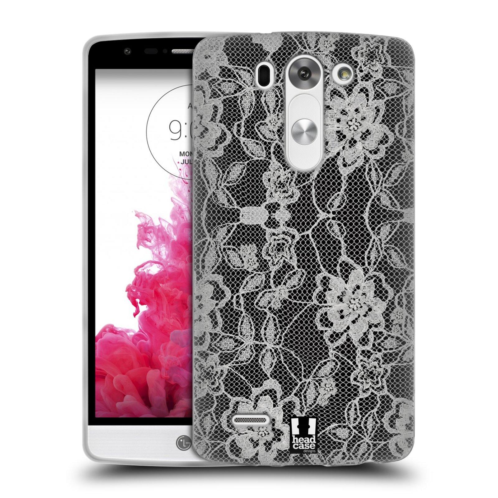 Silikonové pouzdro na mobil LG G3s HEAD CASE FLOWERY KRAJKA (Silikonový kryt či obal na mobilní telefon LG G3s)