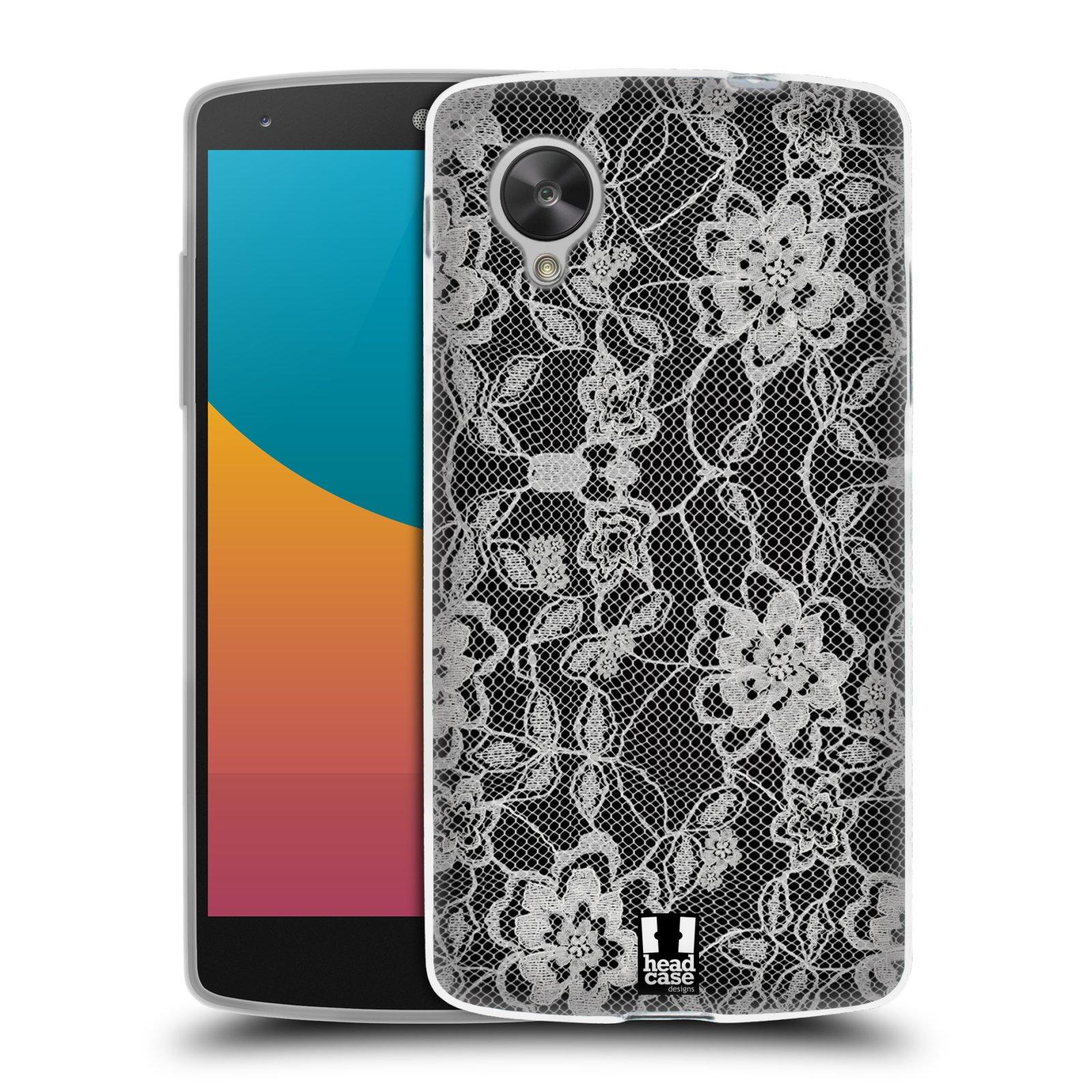 Silikonové pouzdro na mobil LG Nexus 5 HEAD CASE FLOWERY KRAJKA (Silikonový kryt či obal na mobilní telefon LG Google Nexus 5 D821)