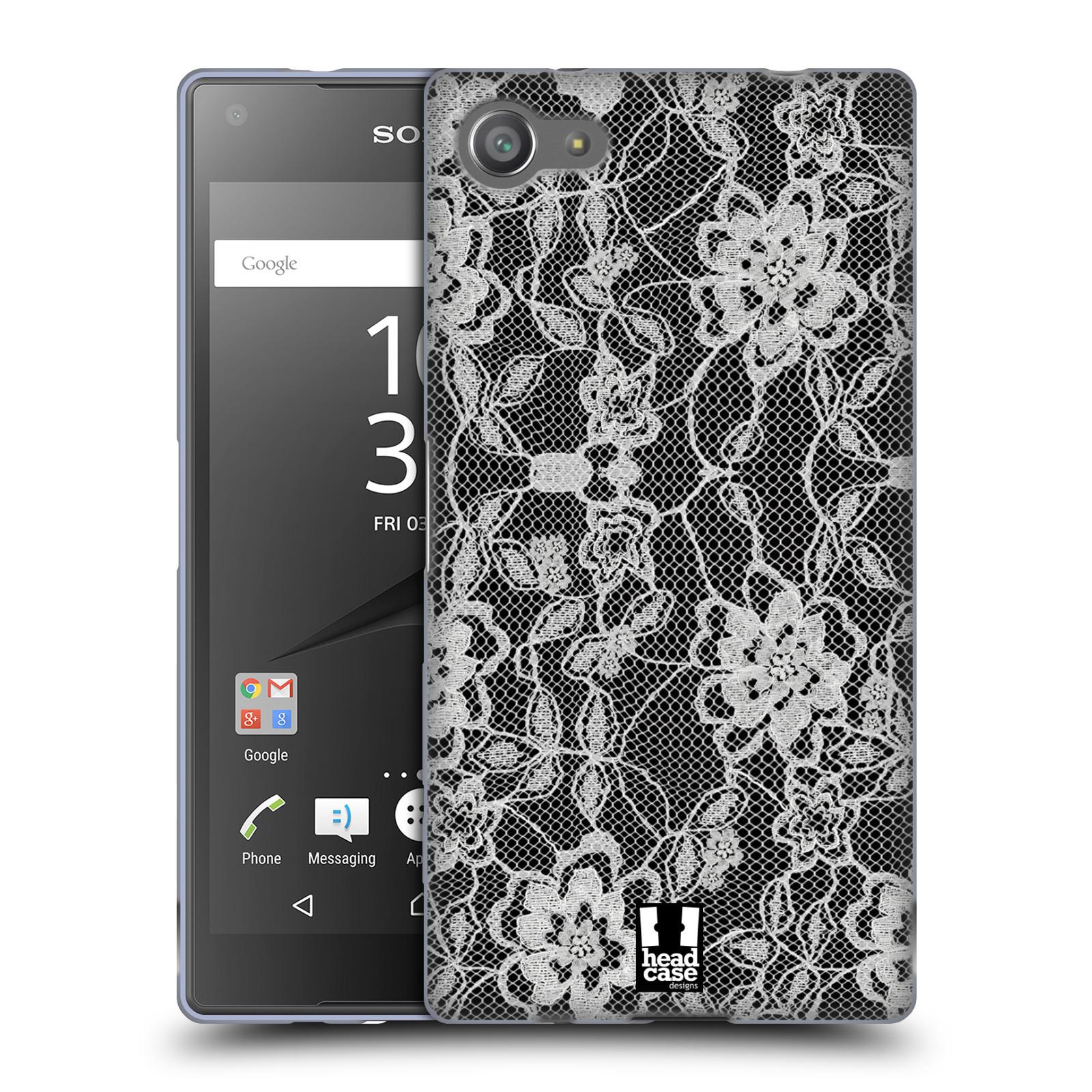Silikonové pouzdro na mobil Sony Xperia Z5 Compact HEAD CASE FLOWERY KRAJKA