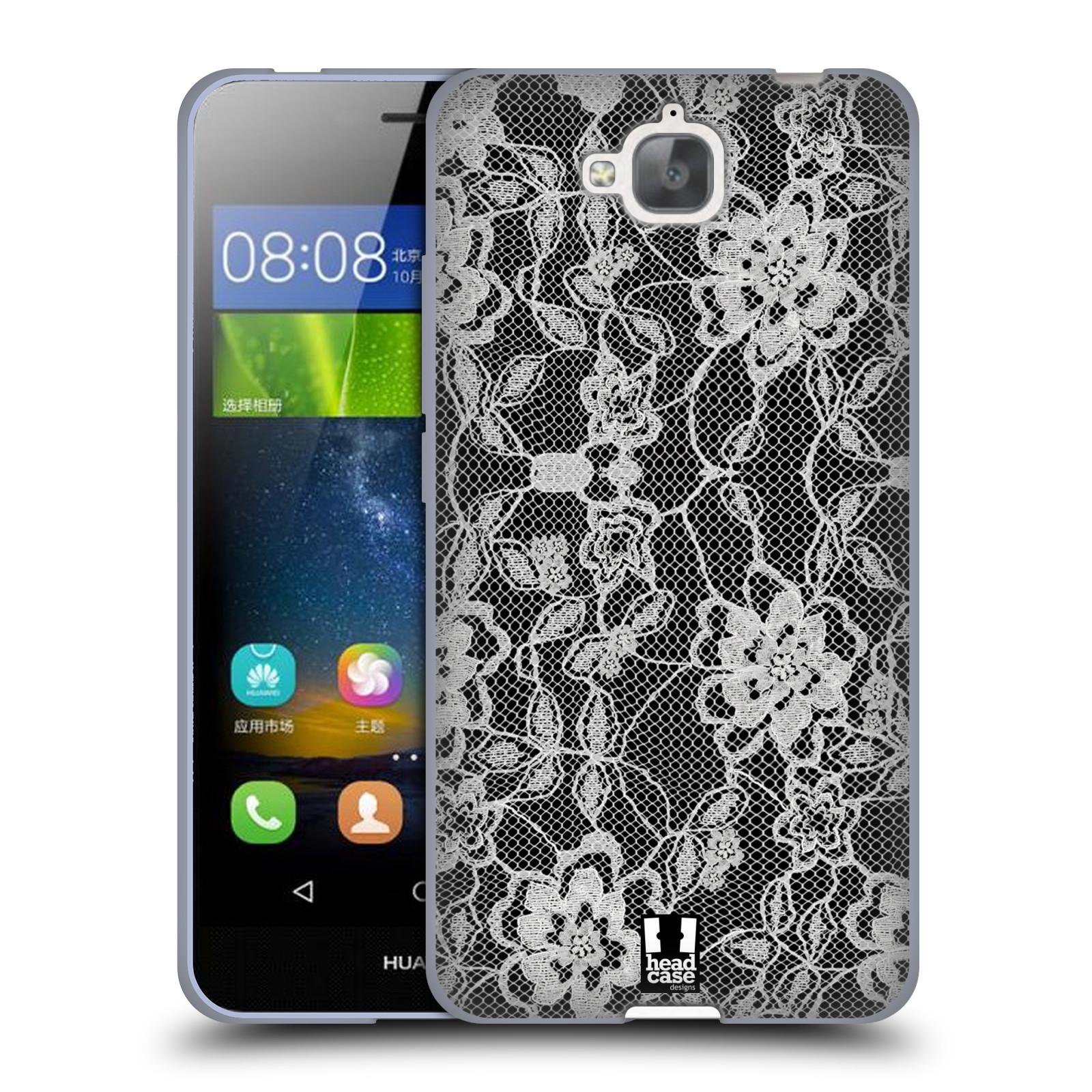 Silikonové pouzdro na mobil Huawei Y6 Pro Dual Sim HEAD CASE FLOWERY KRAJKA