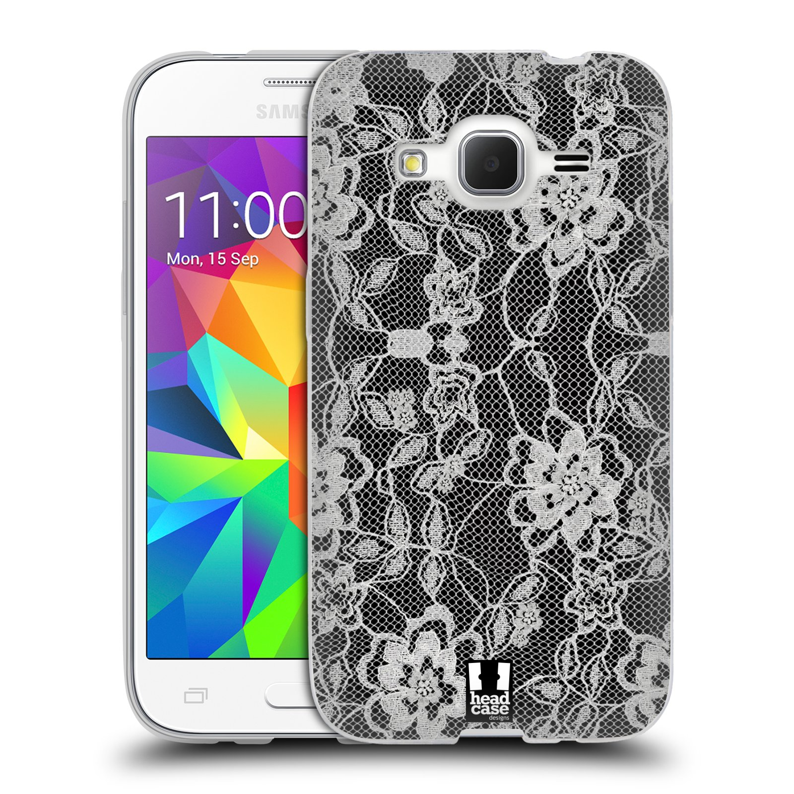Silikonové pouzdro na mobil Samsung Galaxy Core Prime LTE HEAD CASE FLOWERY KRAJKA (Silikonový kryt či obal na mobilní telefon Samsung Galaxy Core Prime LTE SM-G360)