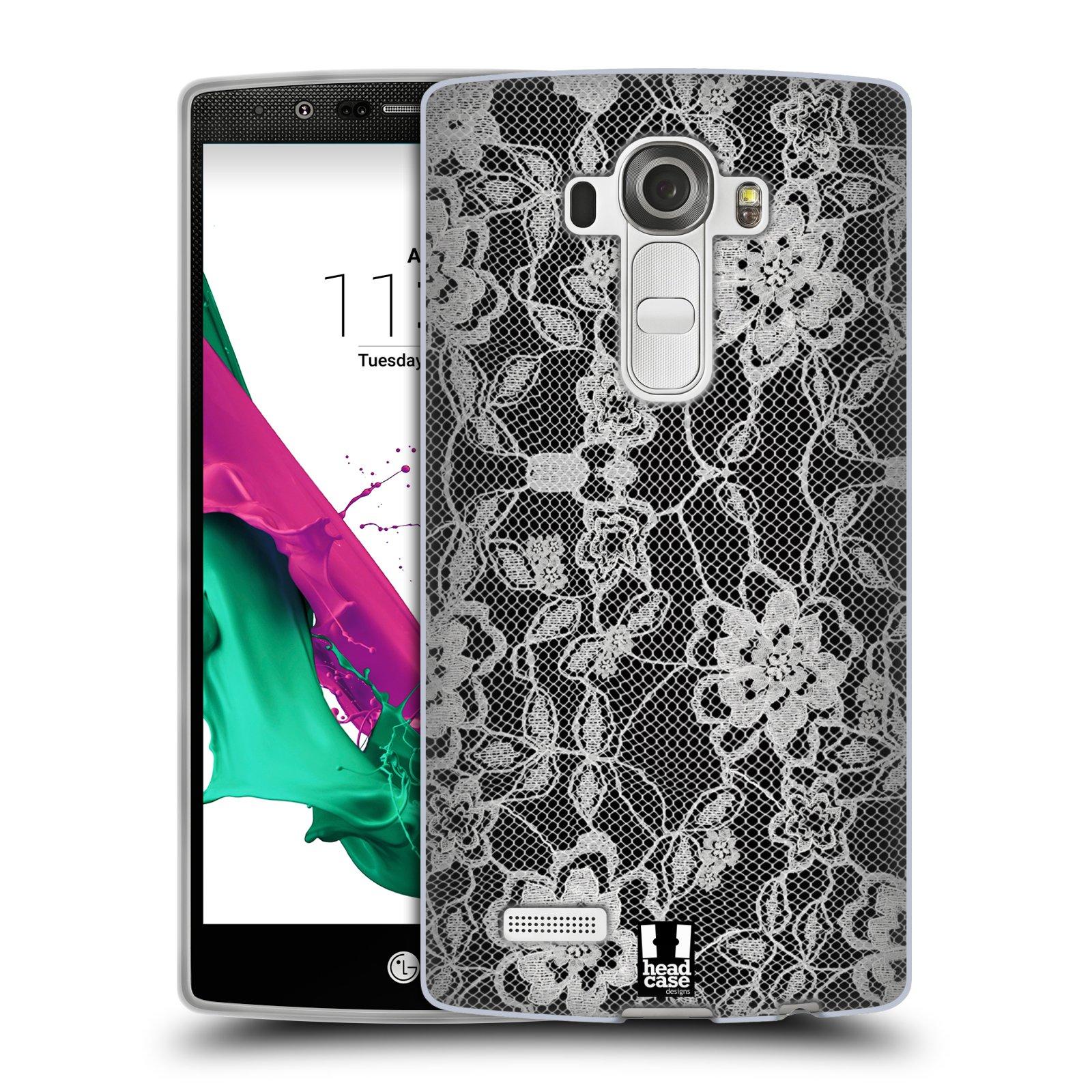 Silikonové pouzdro na mobil LG G4 HEAD CASE FLOWERY KRAJKA (Silikonový kryt či obal na mobilní telefon LG G4 H815)