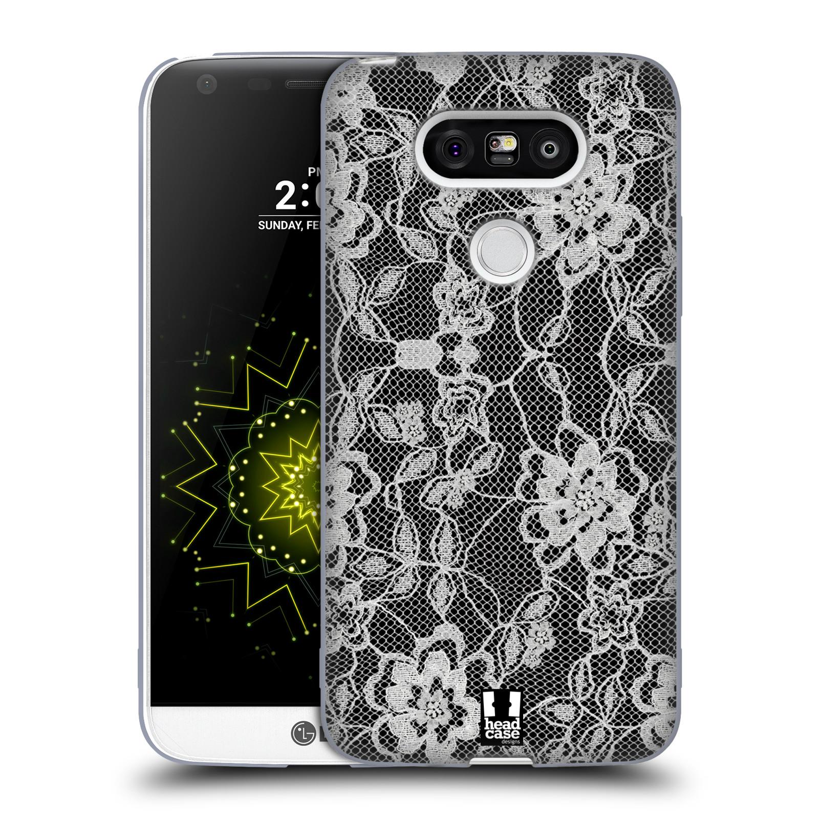 Silikonové pouzdro na mobil LG G5 HEAD CASE FLOWERY KRAJKA (Silikonový kryt či obal na mobilní telefon LG G5 H850)