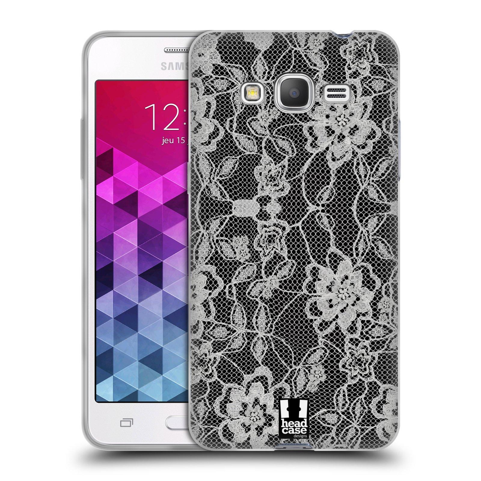 Silikonové pouzdro na mobil Samsung Galaxy Grand Prime HEAD CASE FLOWERY KRAJKA