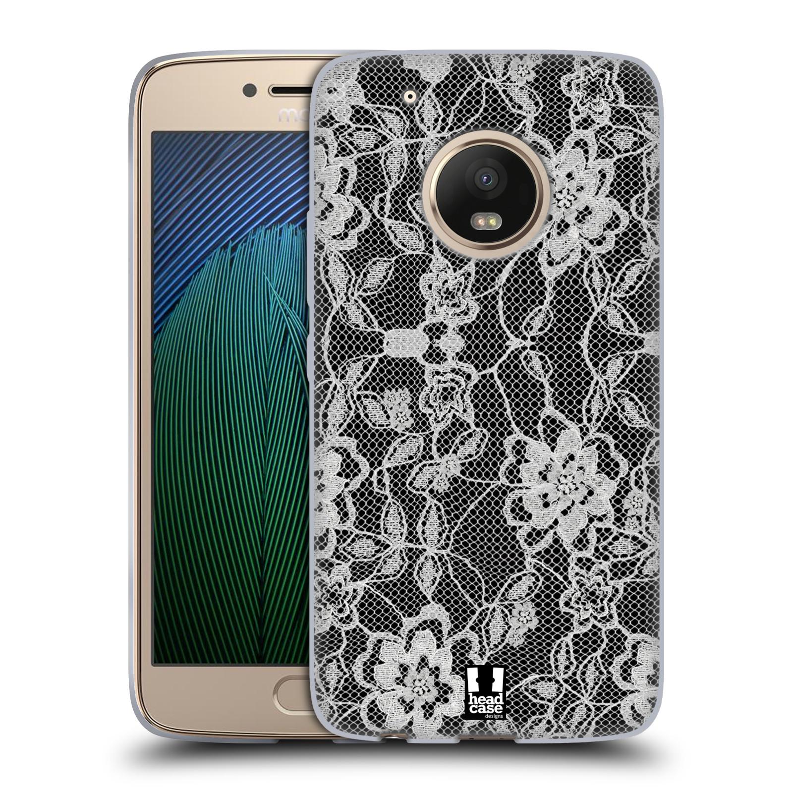 Silikonové pouzdro na mobil Lenovo Moto G5 Plus - Head Case FLOWERY KRAJKA