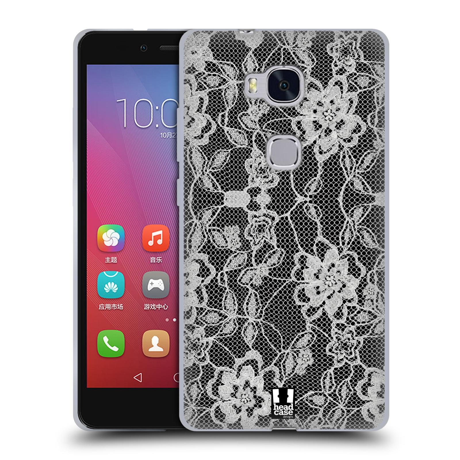 Silikonové pouzdro na mobil Honor 5X HEAD CASE FLOWERY KRAJKA (Silikonový kryt či obal na mobilní telefon Huawei Honor 5X)