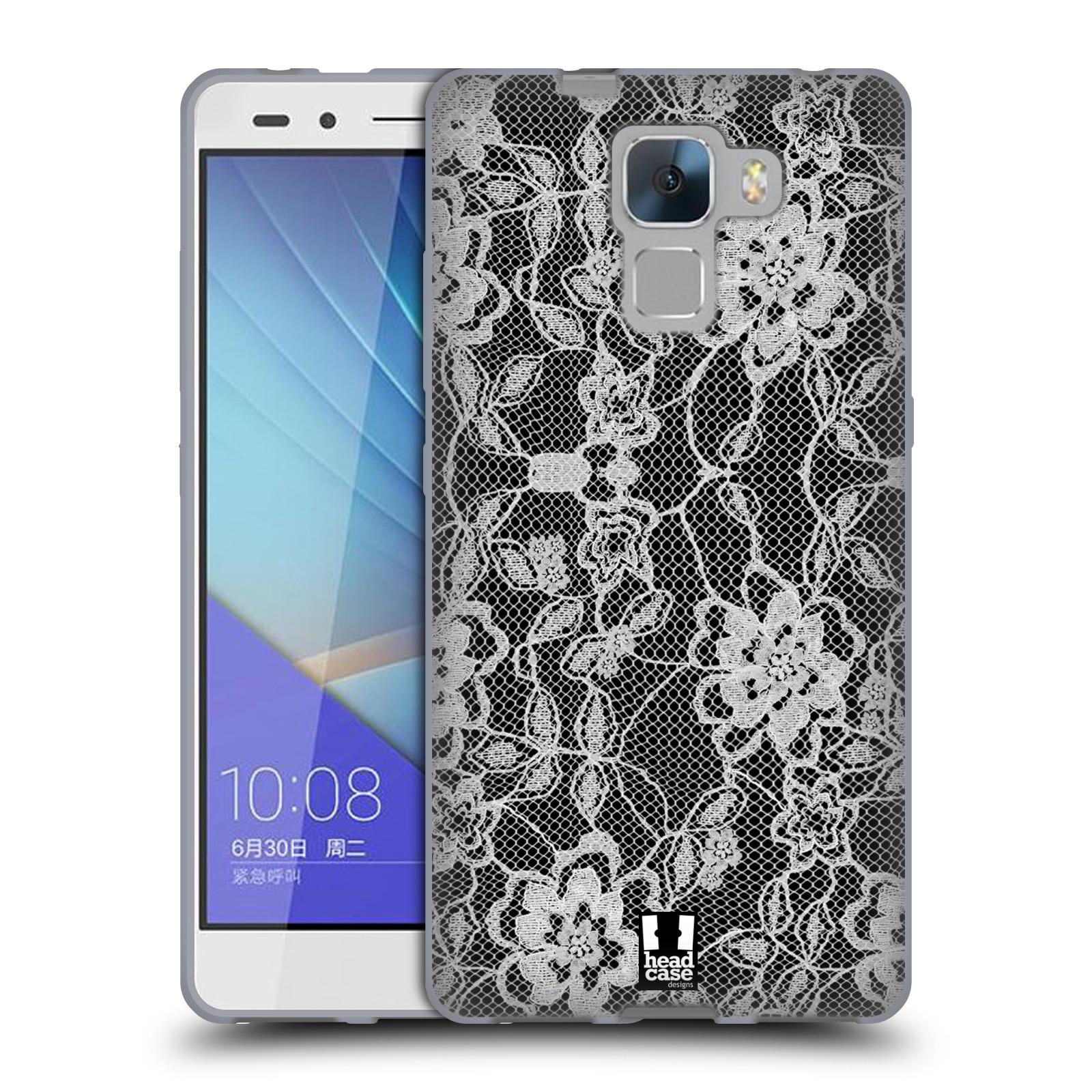 Silikonové pouzdro na mobil Honor 7 HEAD CASE FLOWERY KRAJKA (Silikonový kryt či obal na mobilní telefon Huawei Honor 7)