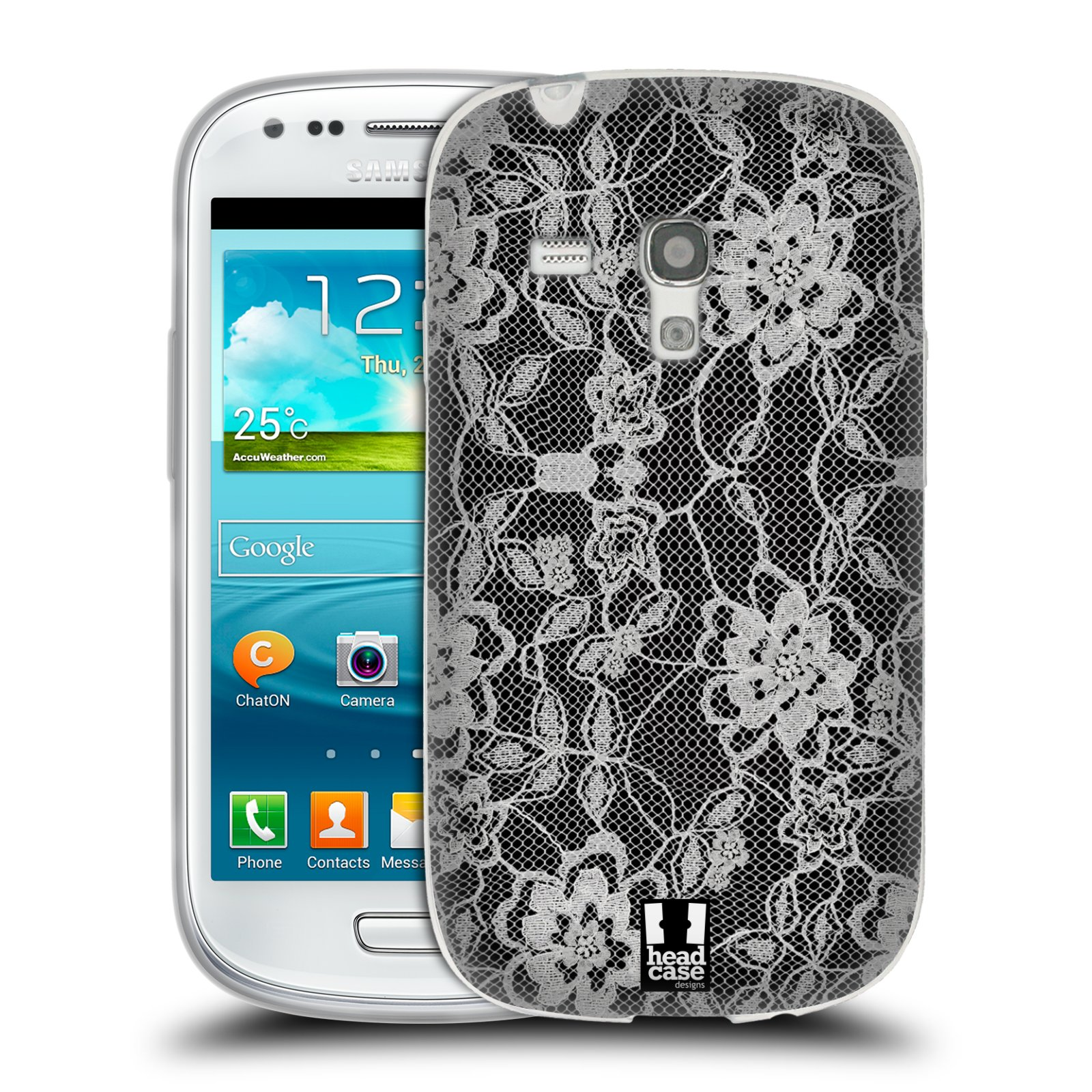 Silikonové pouzdro na mobil Samsung Galaxy S III Mini HEAD CASE FLOWERY KRAJKA (Silikonový kryt či obal na mobilní telefon Samsung Galaxy S III Mini GT-i8190)