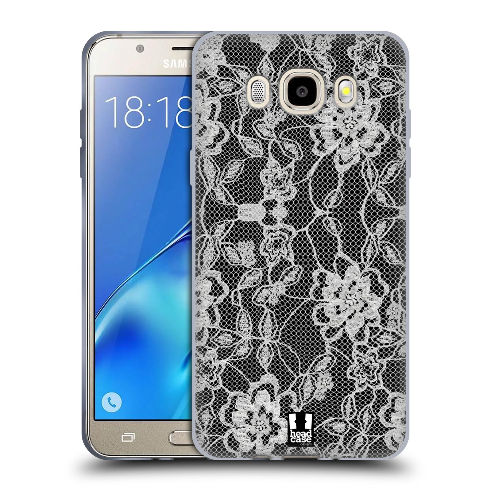 Silikonové pouzdro na mobil Samsung Galaxy J5 (2016) HEAD CASE FLOWERY KRAJKA (Silikonový kryt či obal na mobilní telefon Samsung Galaxy J5 (2016) SM-J510)