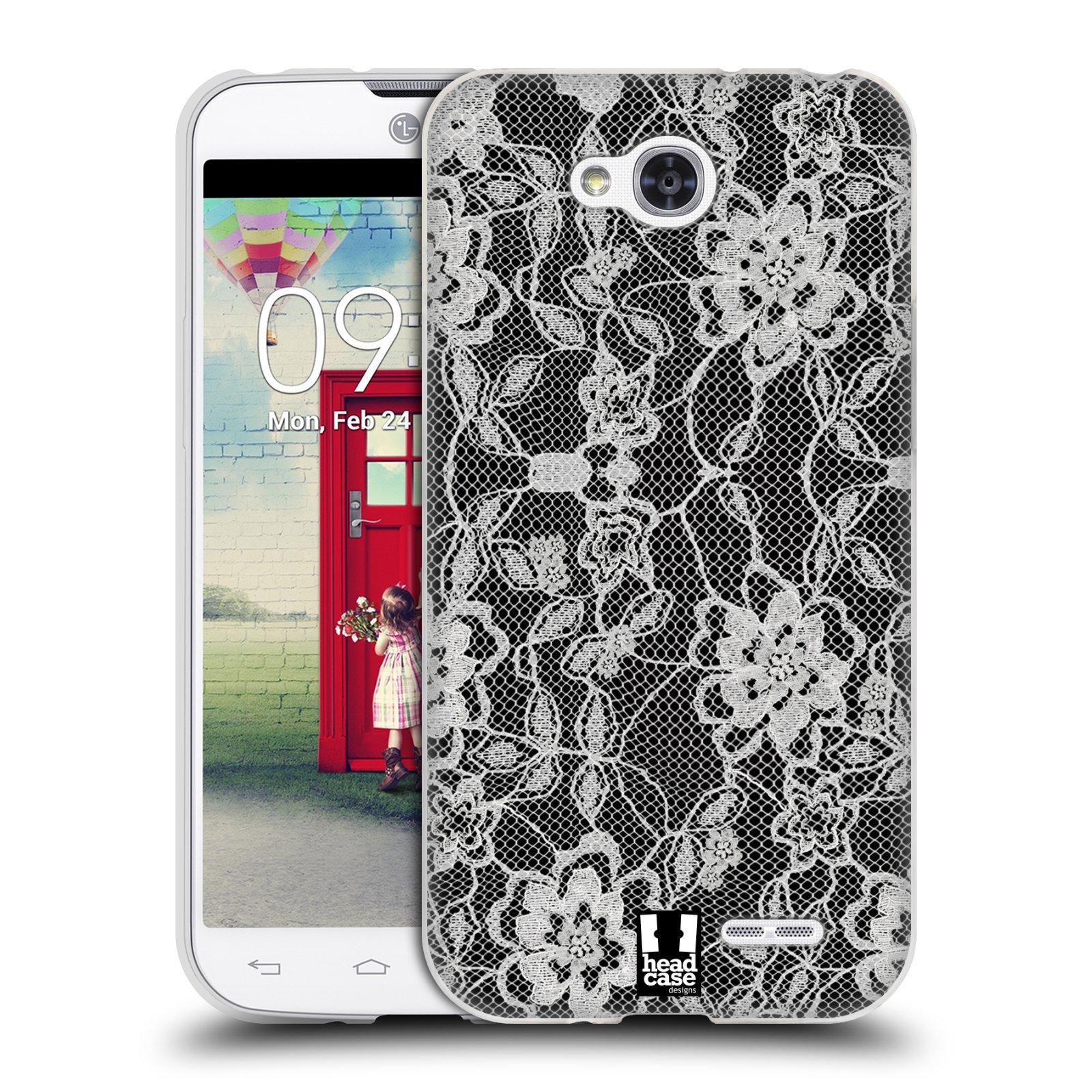 Silikonové pouzdro na mobil LG L90 HEAD CASE FLOWERY KRAJKA (Silikonový kryt či obal na mobilní telefon LG L90 D405n)