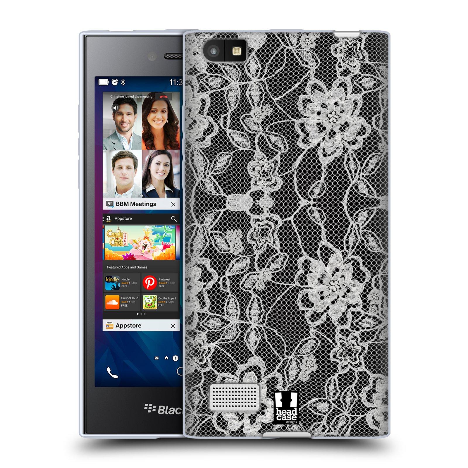 Silikonové pouzdro na mobil Blackberry Leap HEAD CASE FLOWERY KRAJKA (Silikonový kryt či obal na mobilní telefon Blackberry Leap)