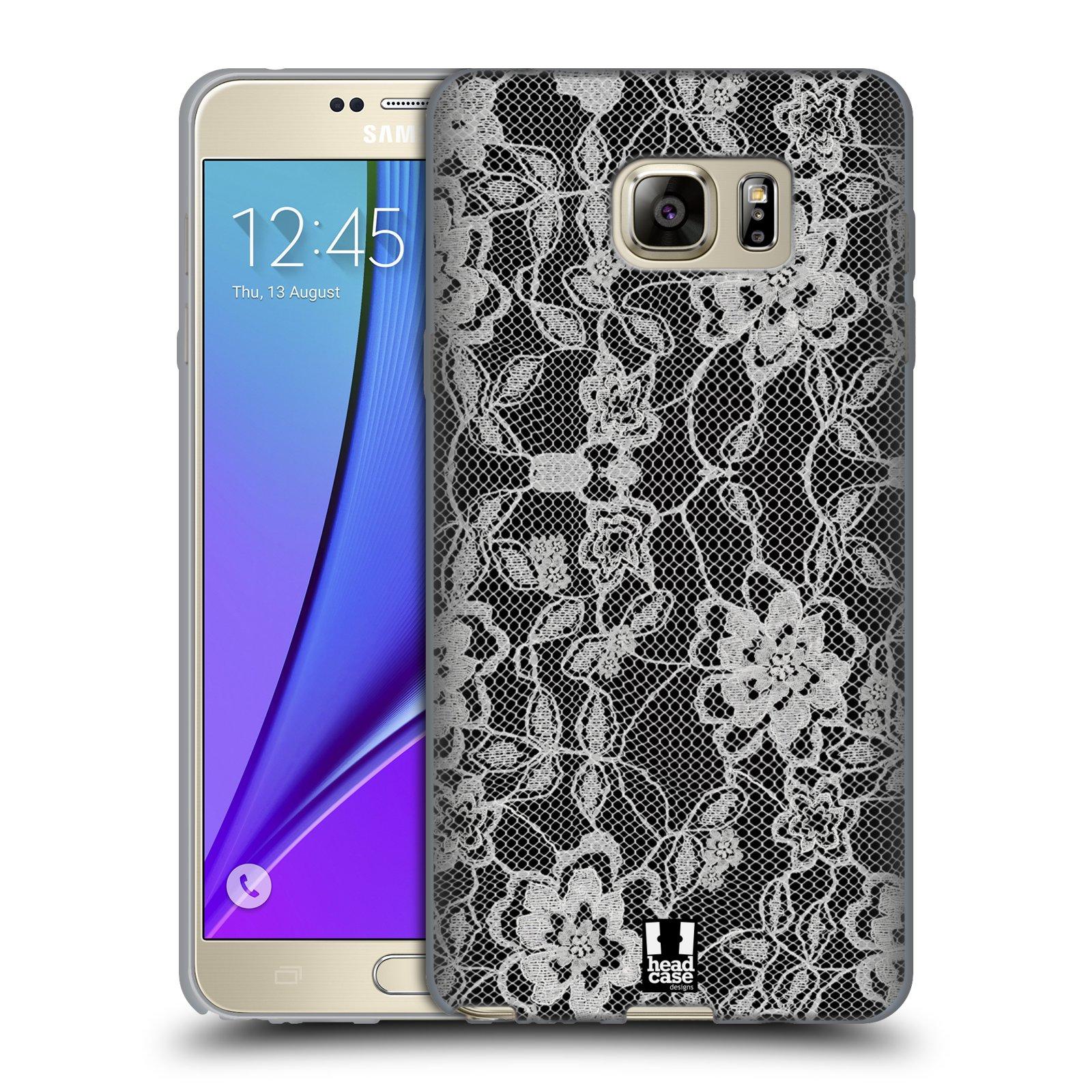 Silikonové pouzdro na mobil Samsung Galaxy Note 5 HEAD CASE FLOWERY KRAJKA (Silikonový kryt či obal na mobilní telefon Samsung Galaxy Note 5 SM-N920)
