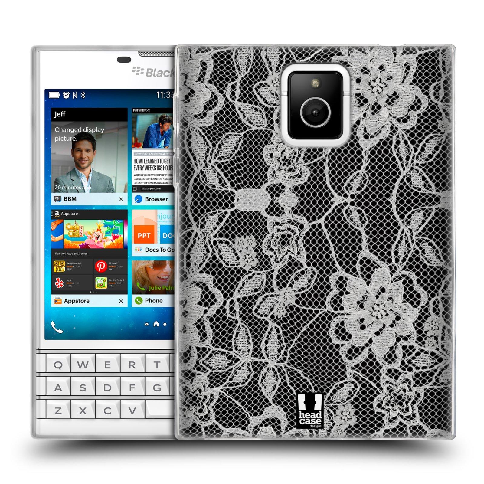Silikonové pouzdro na mobil Blackberry PASSPORT HEAD CASE FLOWERY KRAJKA (Silikonový kryt či obal na mobilní telefon Blackberry PASSPORT)