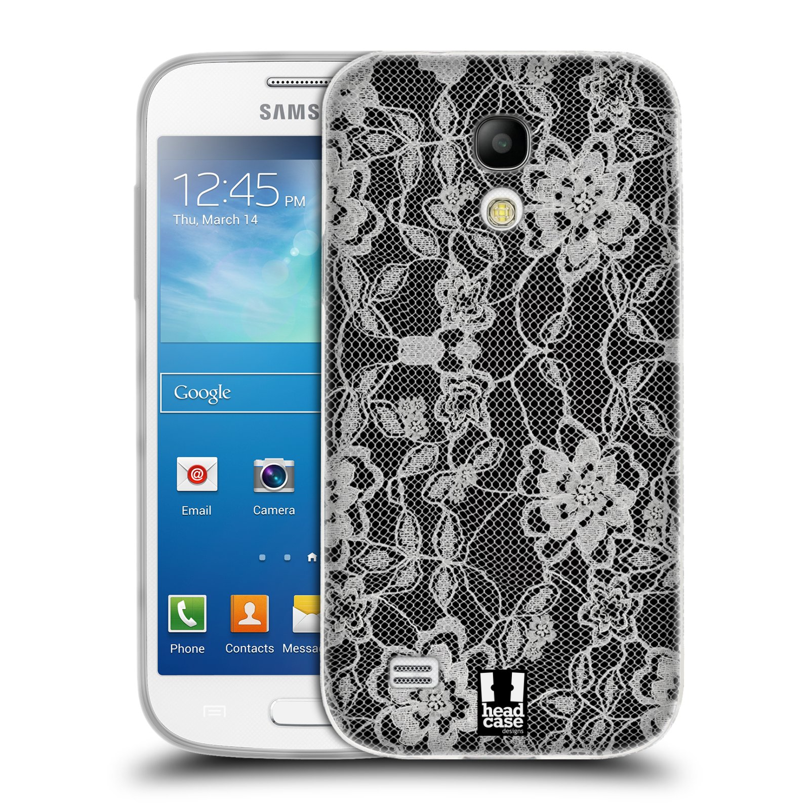 Silikonové pouzdro na mobil Samsung Galaxy S4 Mini HEAD CASE FLOWERY KRAJKA