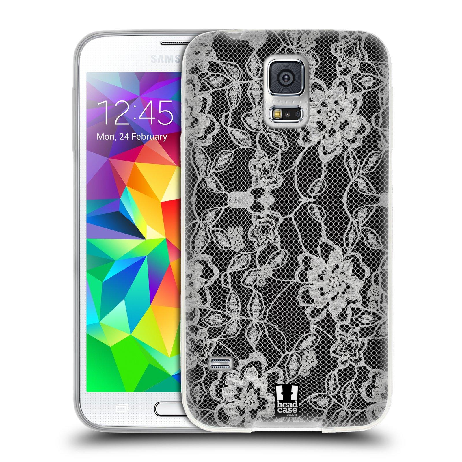 Silikonové pouzdro na mobil Samsung Galaxy S5 HEAD CASE FLOWERY KRAJKA (Silikonový kryt či obal na mobilní telefon Samsung Galaxy S5 SM-G900F)