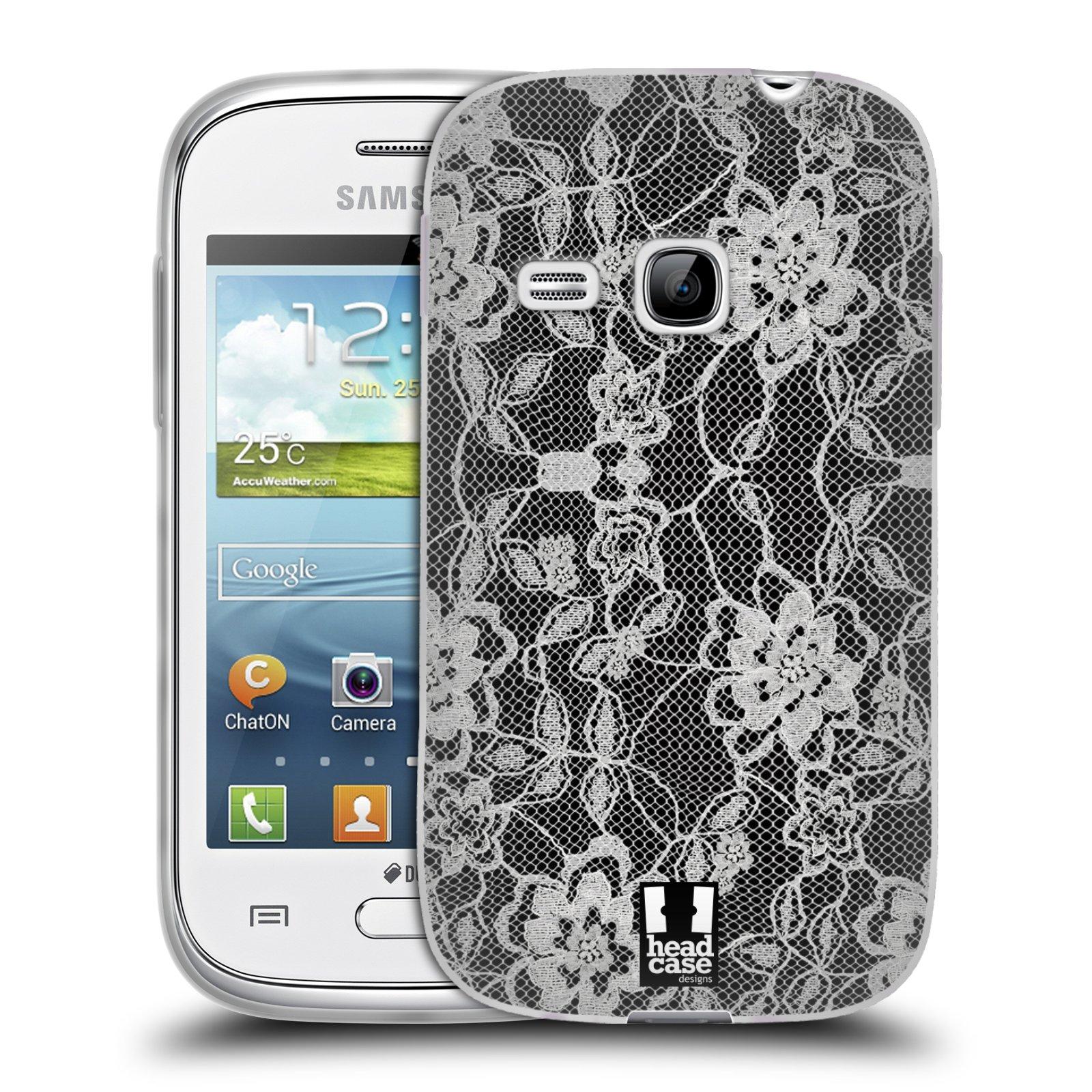 Silikonové pouzdro na mobil Samsung Galaxy Young HEAD CASE FLOWERY KRAJKA (Silikonový kryt či obal na mobilní telefon Samsung Galaxy Young GT-S6310)