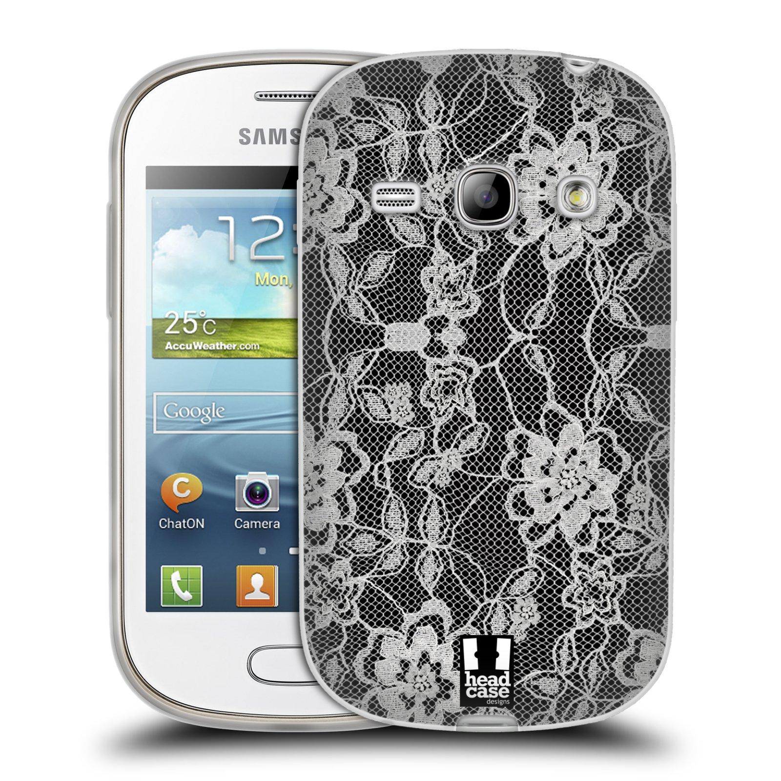 Silikonové pouzdro na mobil Samsung Galaxy Fame HEAD CASE FLOWERY KRAJKA (Silikonový kryt či obal na mobilní telefon Samsung Galaxy Fame GT-S6810)