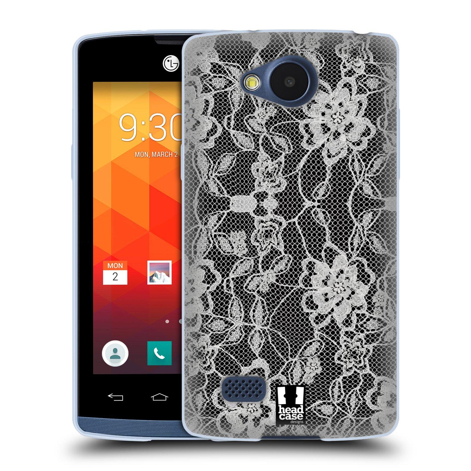 Silikonové pouzdro na mobil LG Joy HEAD CASE FLOWERY KRAJKA (Silikonový kryt či obal na mobilní telefon LG Joy H220)