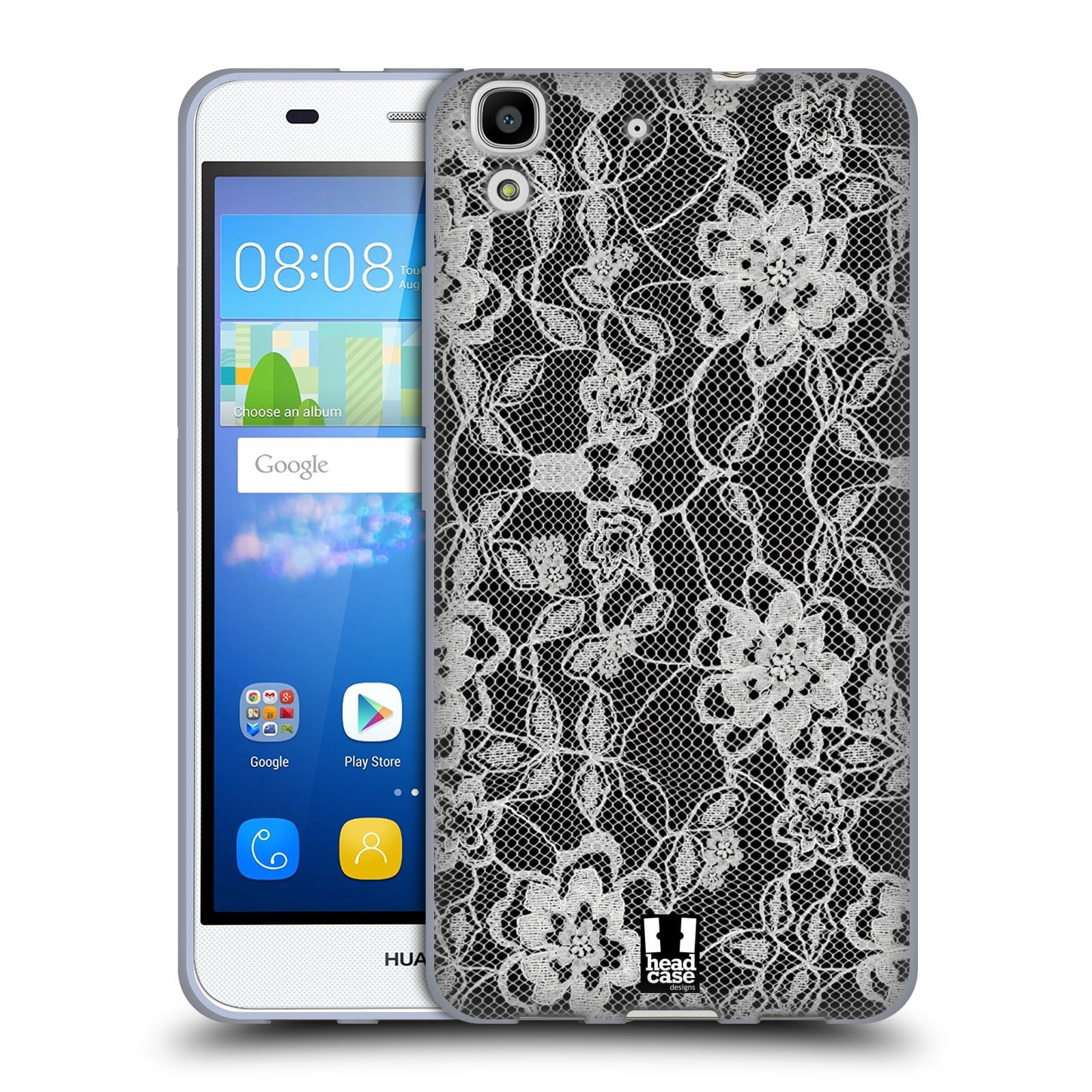 Silikonové pouzdro na mobil Huawei Y6 HEAD CASE FLOWERY KRAJKA