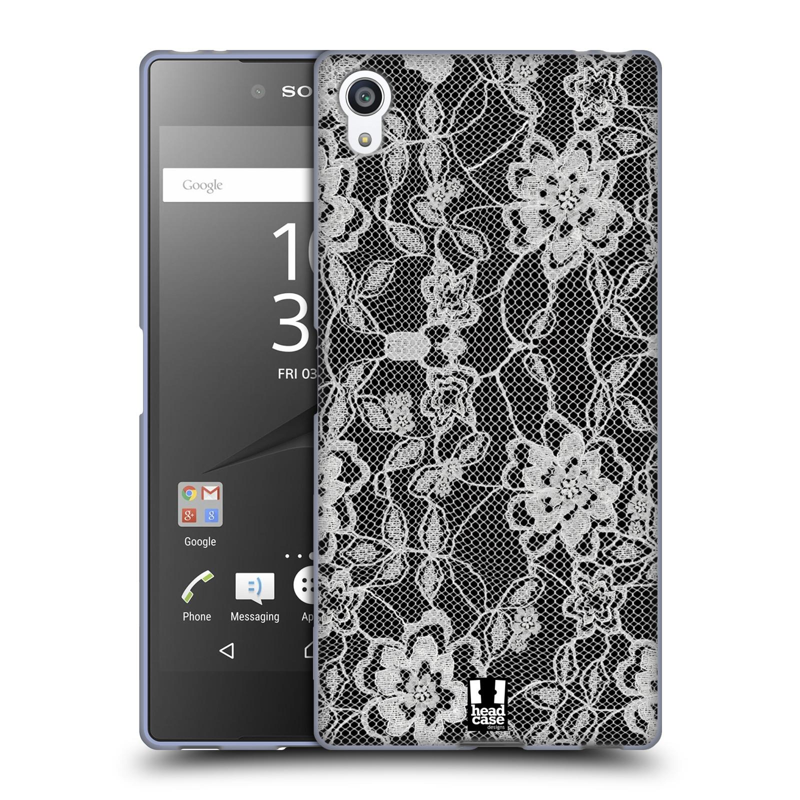 Silikonové pouzdro na mobil Sony Xperia Z5 Premium HEAD CASE FLOWERY KRAJKA