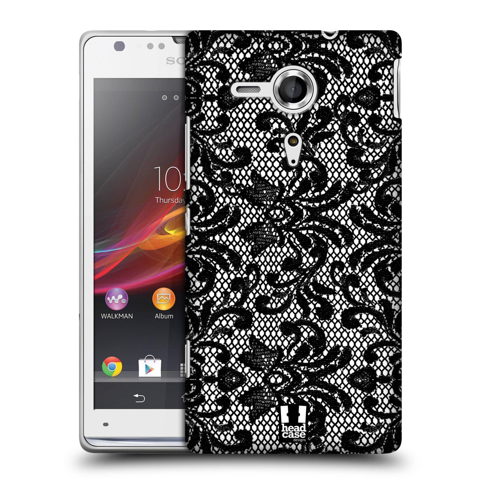 Plastové pouzdro na mobil Sony Xperia SP C5303 HEAD CASE KRAJKA (Kryt či obal na mobilní telefon Sony Xperia SP )