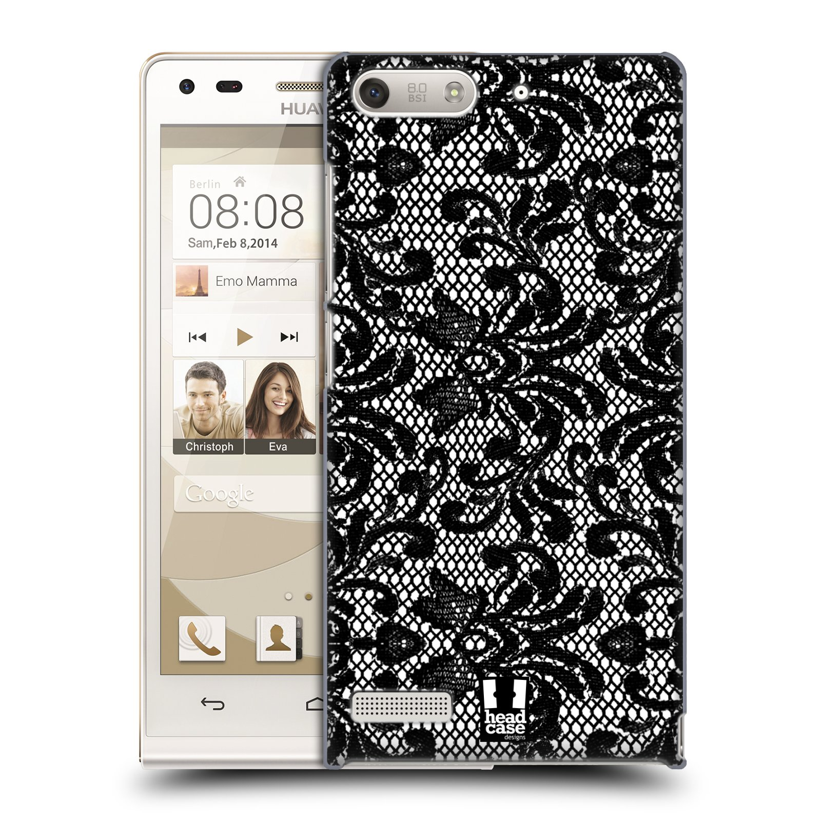 Plastové pouzdro na mobil Huawei Ascend G6 HEAD CASE KRAJKA (Kryt či obal na mobilní telefon Huawei Ascend G6 bez LTE)
