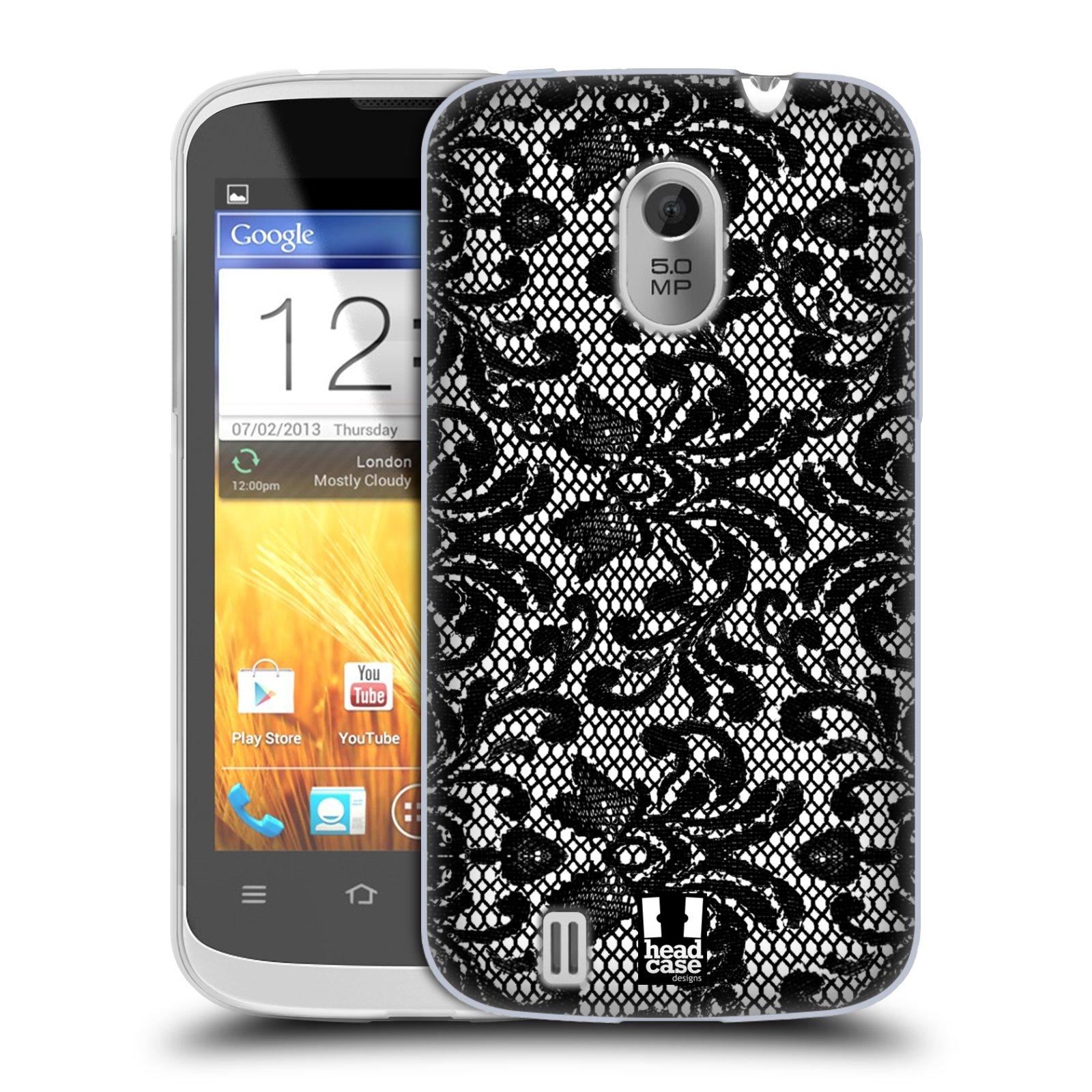 Silikonové pouzdro na mobil ZTE Blade III HEAD CASE KRAJKA (Silikonový kryt či obal na mobilní telefon ZTE Blade 3)