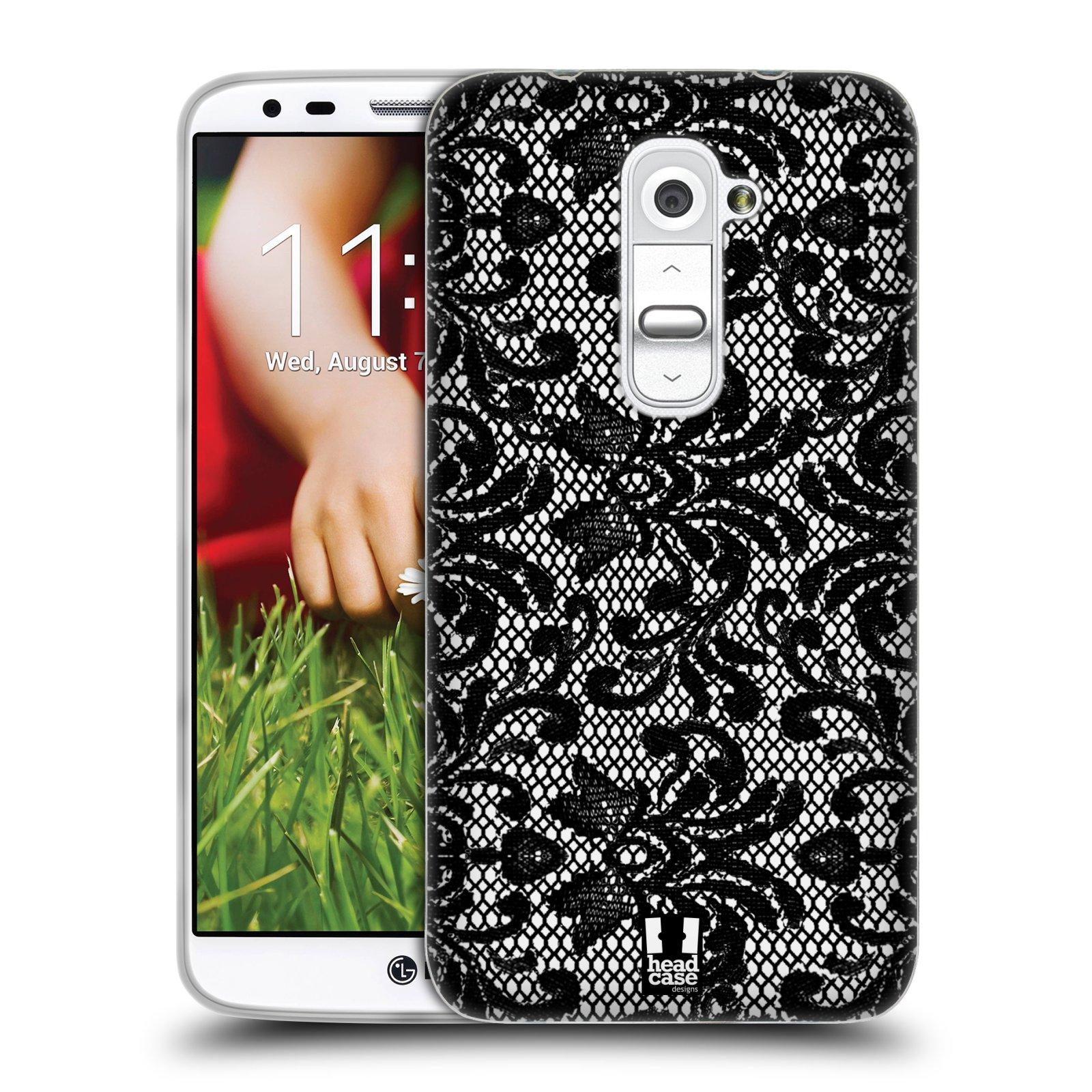 Silikonové pouzdro na mobil LG G2 HEAD CASE KRAJKA (Silikonový kryt či obal na mobilní telefon LG G2 D802)