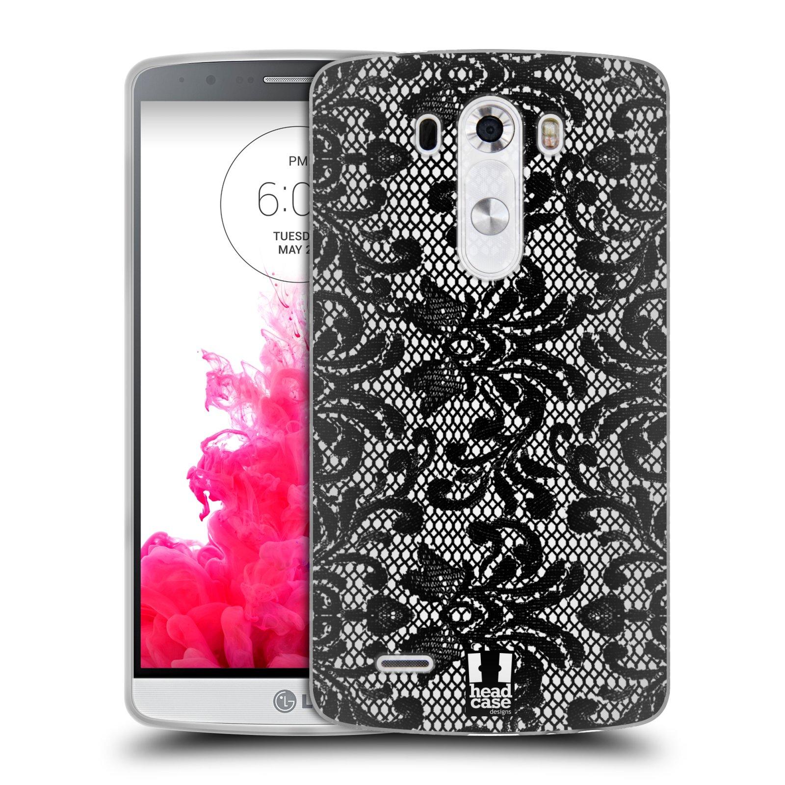 Silikonové pouzdro na mobil LG G3 HEAD CASE KRAJKA (Silikonový kryt či obal na mobilní telefon LG G3 D855)