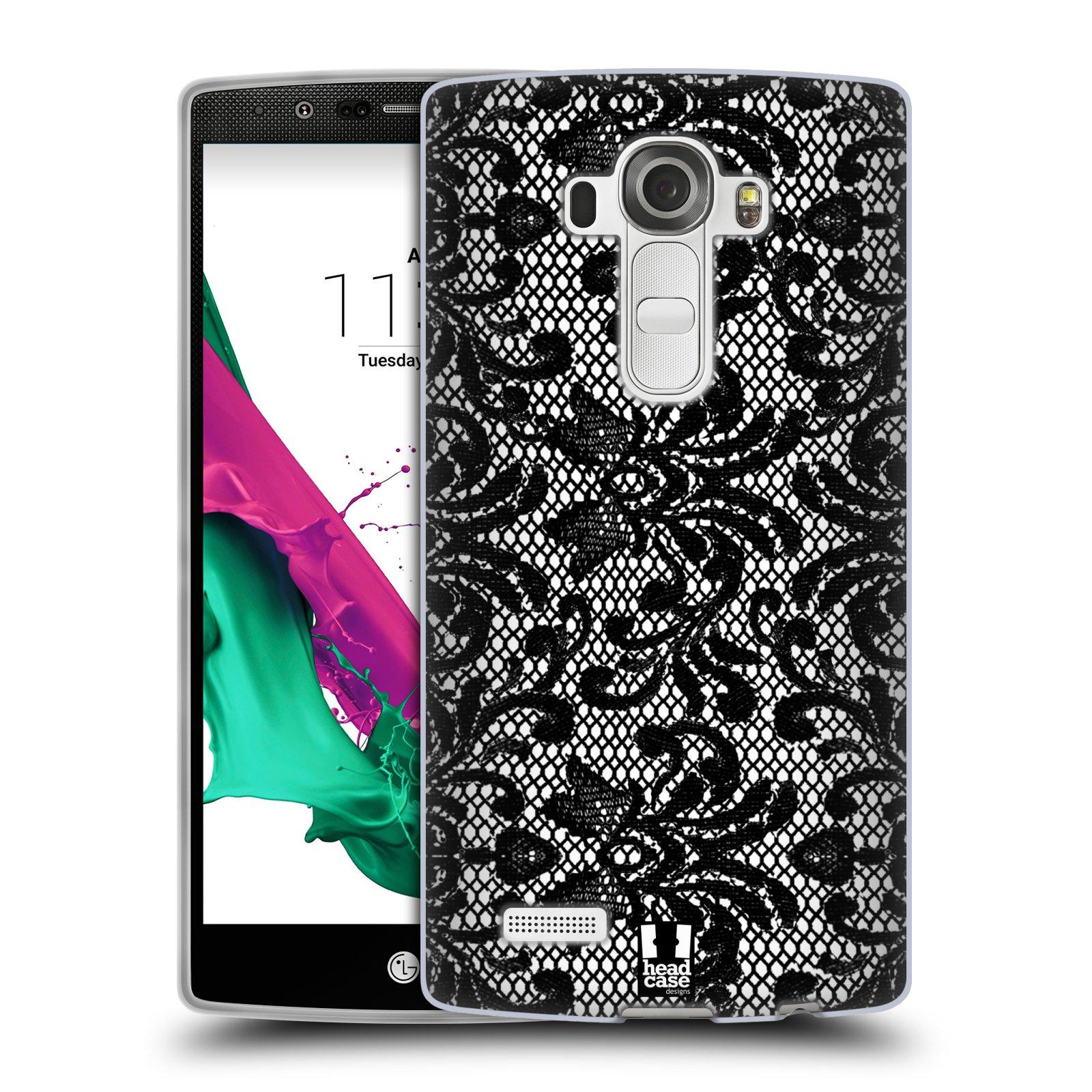 Silikonové pouzdro na mobil LG G4 HEAD CASE KRAJKA (Silikonový kryt či obal na mobilní telefon LG G4 H815)
