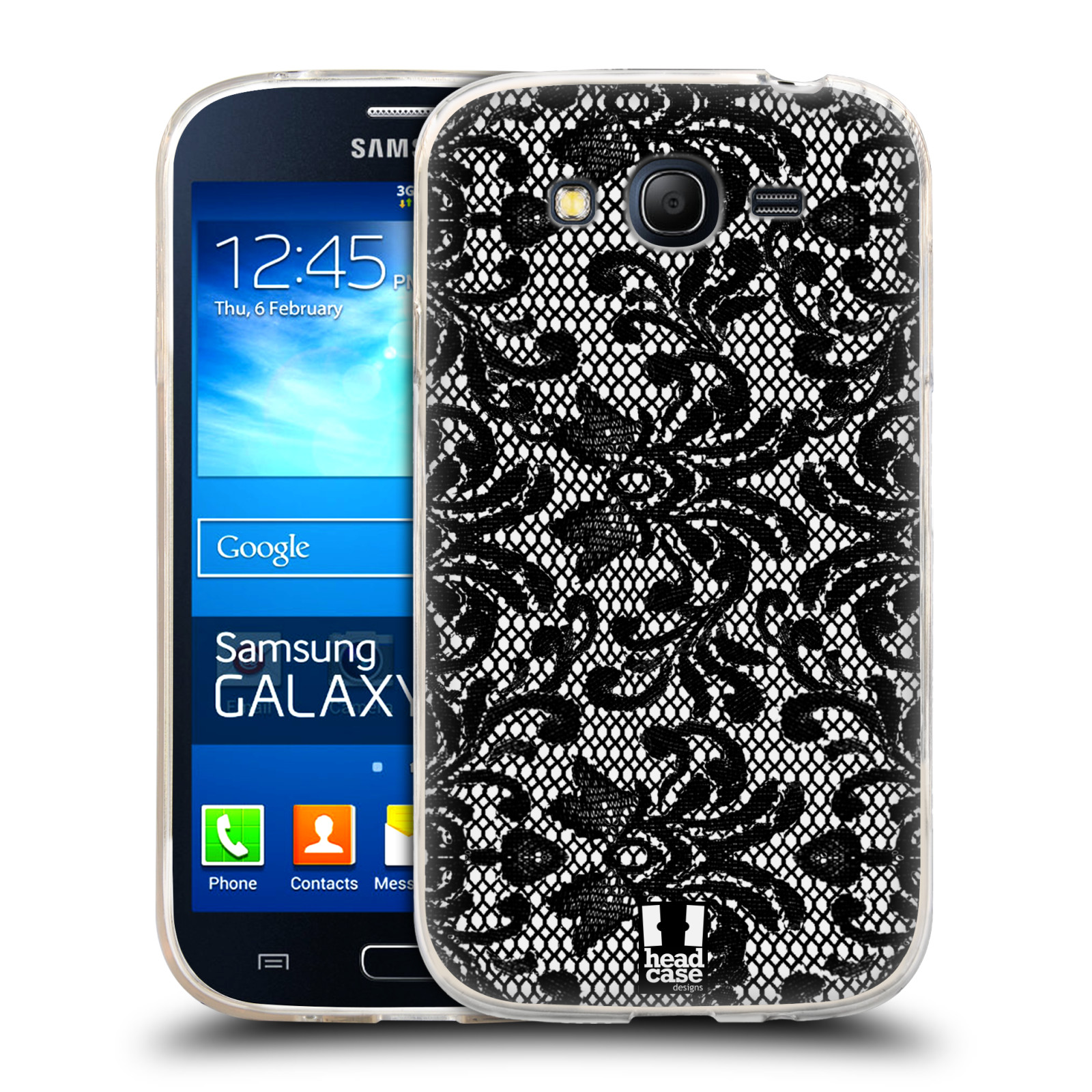 Silikonové pouzdro na mobil Samsung Galaxy Grand Neo Plus HEAD CASE KRAJKA (Silikonový kryt či obal na mobilní telefon Samsung Galaxy Grand Neo Plus Duos GT-I9060i)