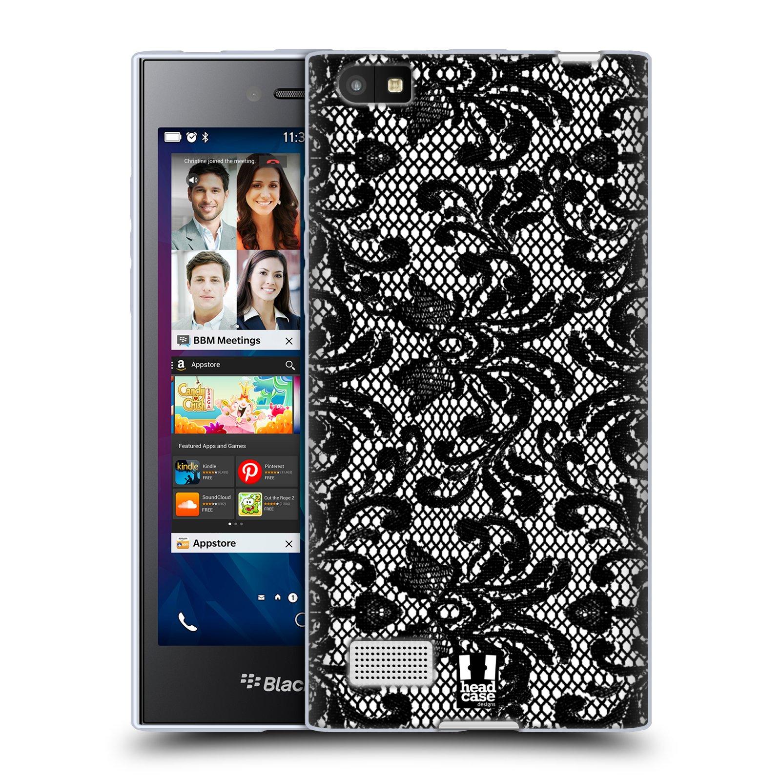 Silikonové pouzdro na mobil Blackberry Leap HEAD CASE KRAJKA (Silikonový kryt či obal na mobilní telefon Blackberry Leap)