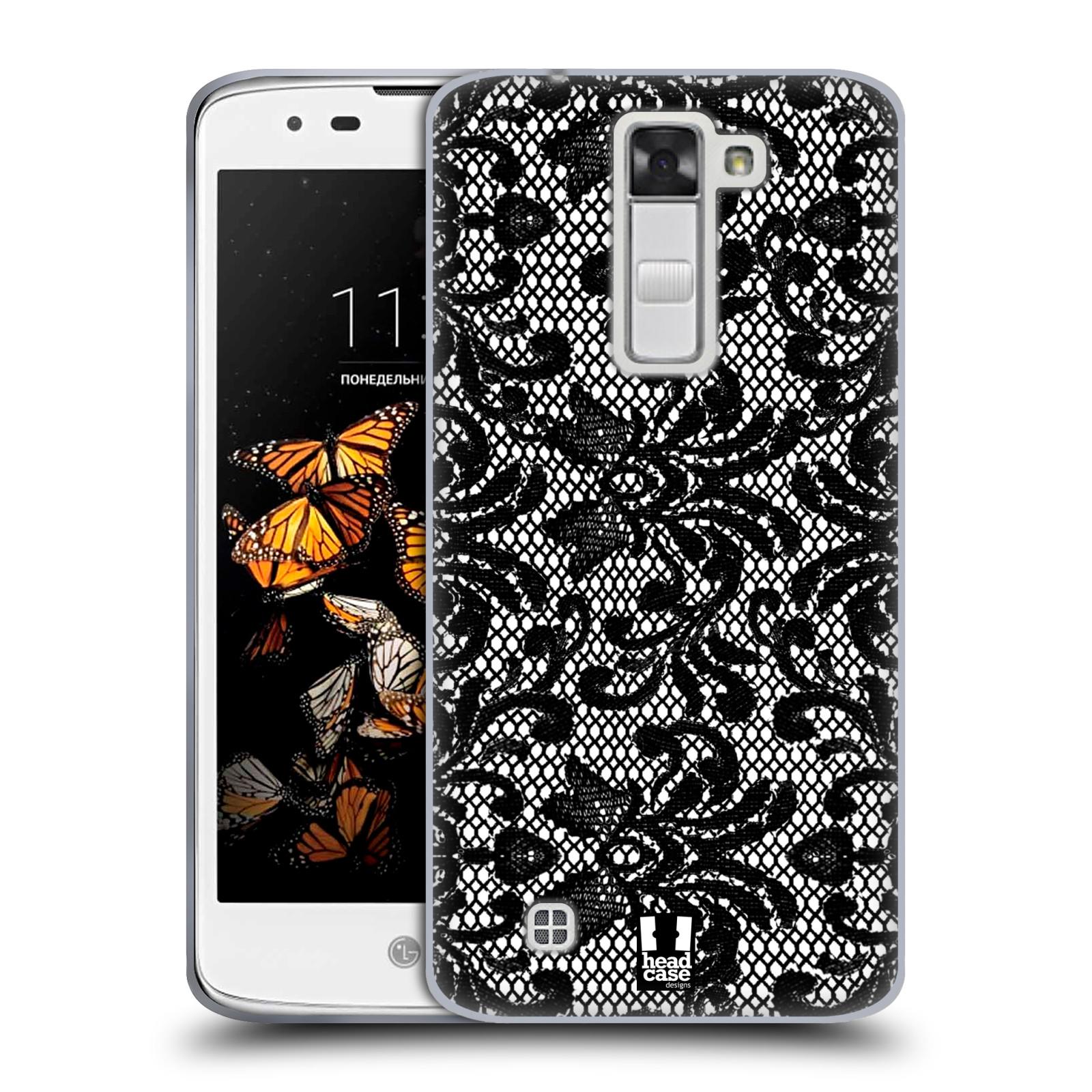 Silikonové pouzdro na mobil LG K8 HEAD CASE KRAJKA (Silikonový kryt či obal na mobilní telefon LG K8 K350)