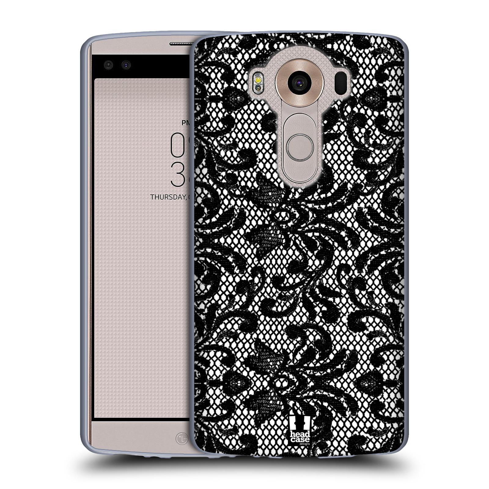 Silikonové pouzdro na mobil LG V10 HEAD CASE KRAJKA (Silikonový kryt či obal na mobilní telefon LG V10 H960 / H960A)