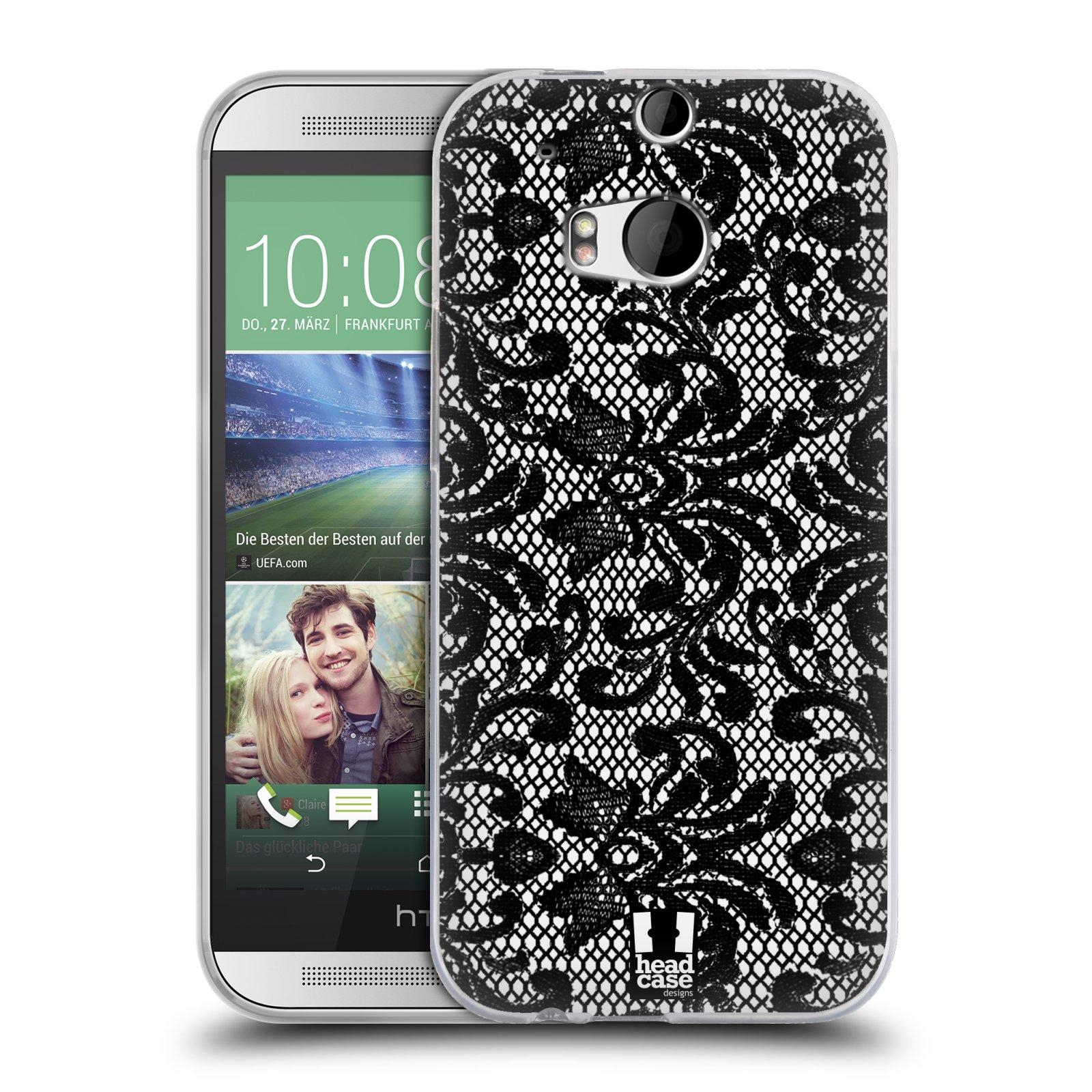 Silikonové pouzdro na mobil HTC ONE M8 HEAD CASE KRAJKA (Silikonový kryt či obal na mobilní telefon HTC ONE M8)