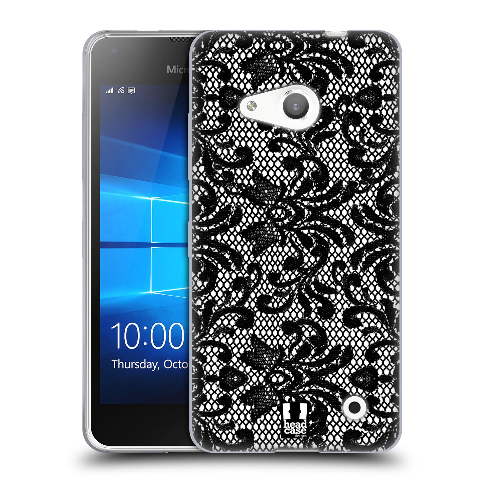 Silikonové pouzdro na mobil Microsoft Lumia 550 HEAD CASE KRAJKA (Silikonový kryt či obal na mobilní telefon Microsoft Lumia 550)
