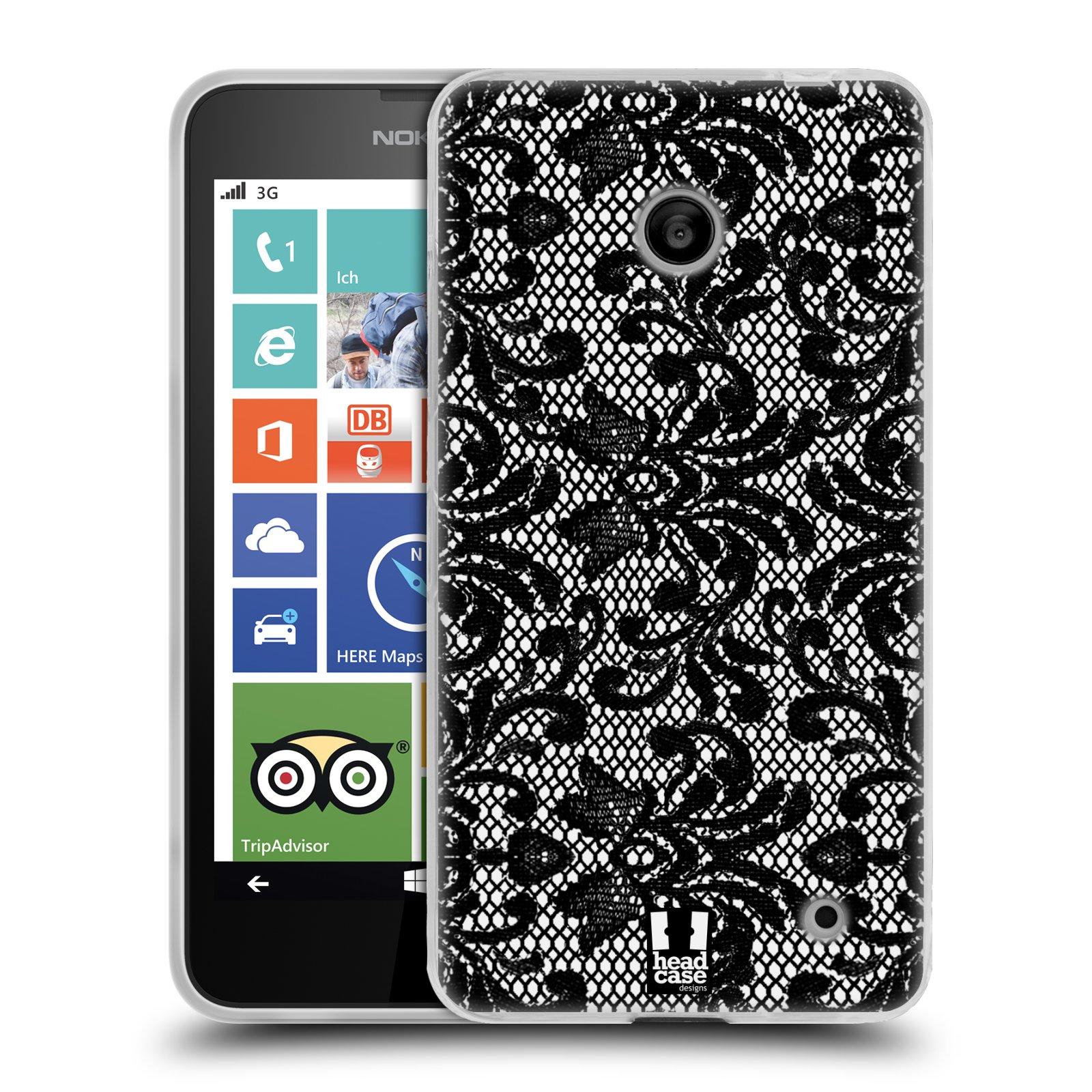 Silikonové pouzdro na mobil Nokia Lumia 630 HEAD CASE KRAJKA