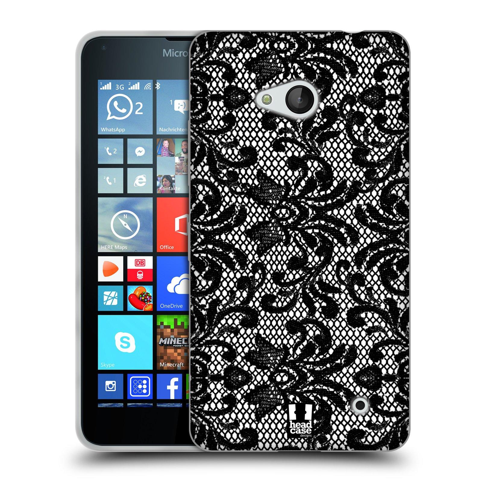 Silikonové pouzdro na mobil Microsoft Lumia 640 HEAD CASE KRAJKA (Silikonový kryt či obal na mobilní telefon Microsoft Lumia 640)